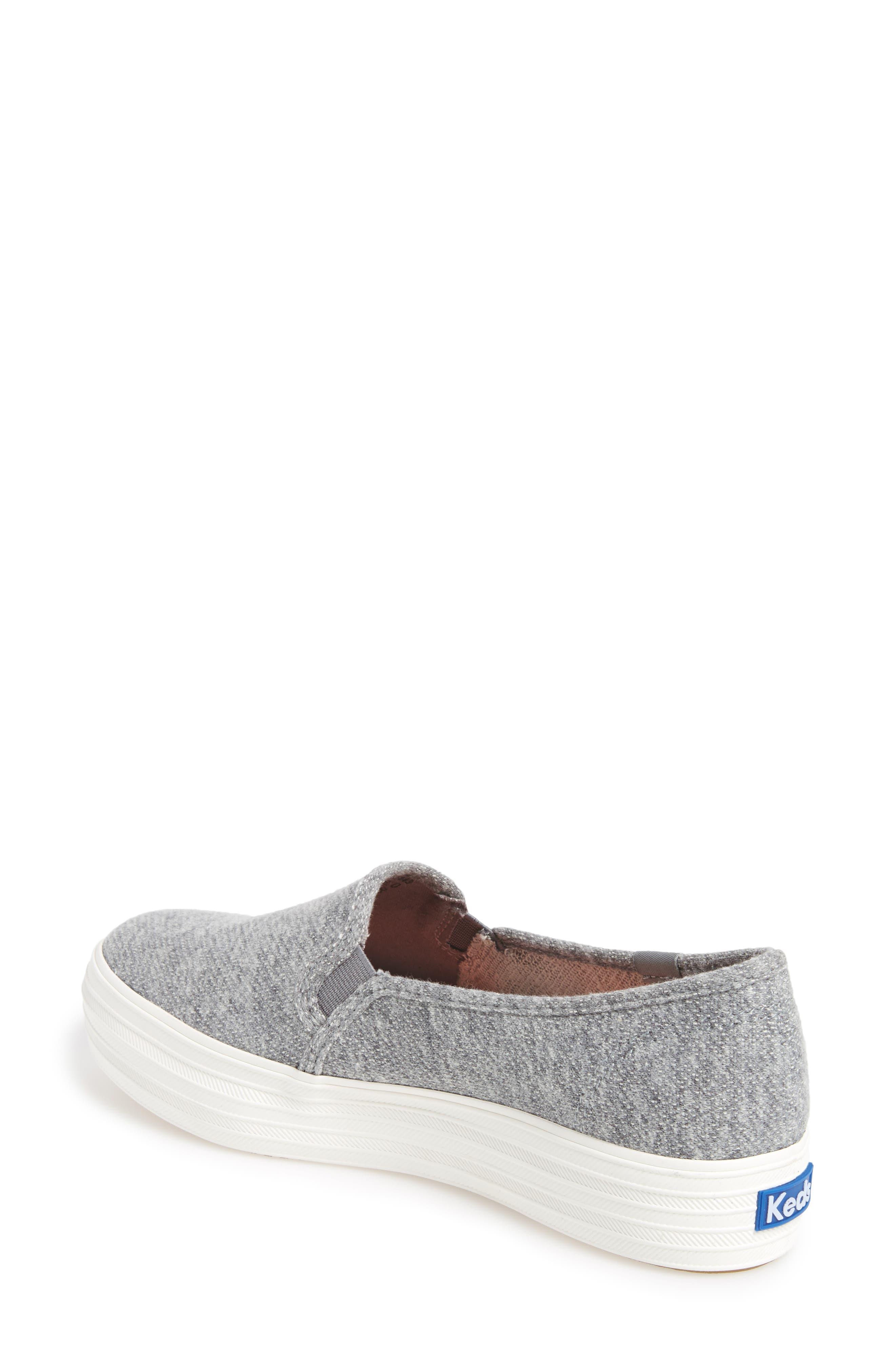 Triple Decker Slip-On Platform Sneaker,                             Alternate thumbnail 12, color,
