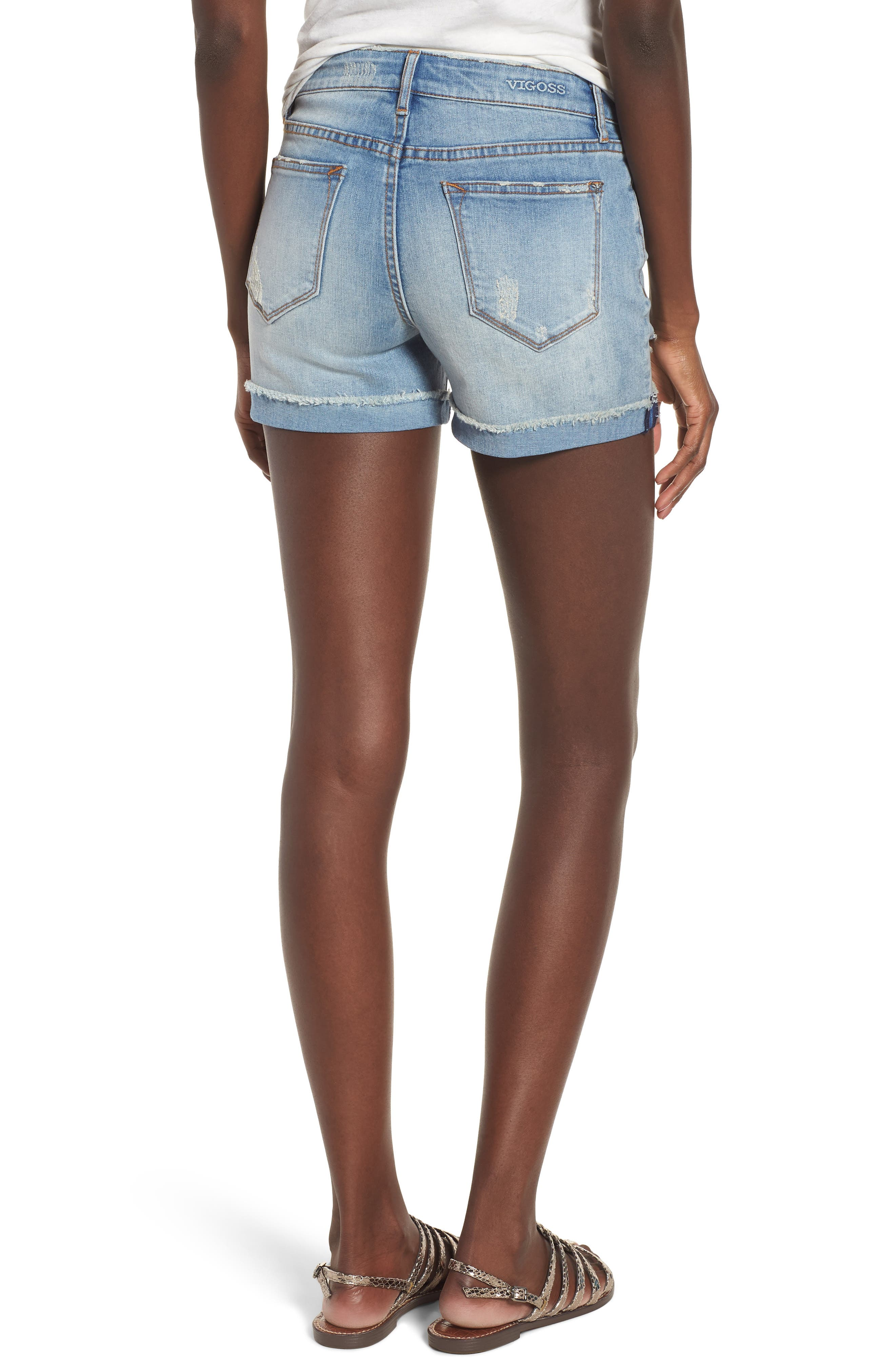 Marley Denim Shorts,                             Alternate thumbnail 2, color,                             461