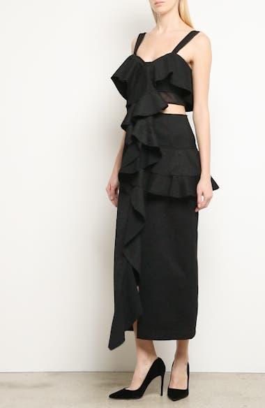 Ruffle Midi Dress, video thumbnail