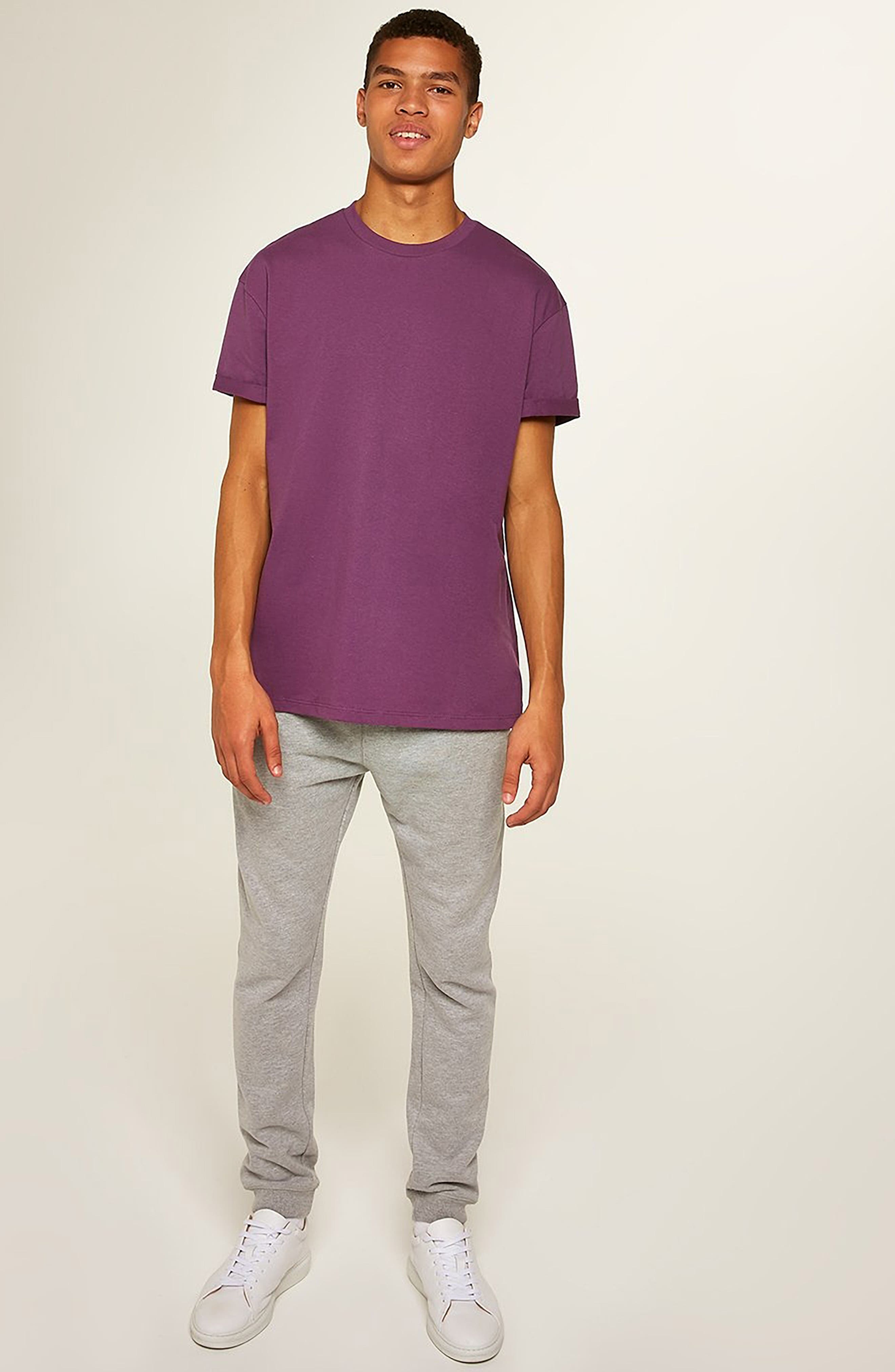 Oversize Fit Roller T-Shirt,                             Alternate thumbnail 4, color,                             PURPLE