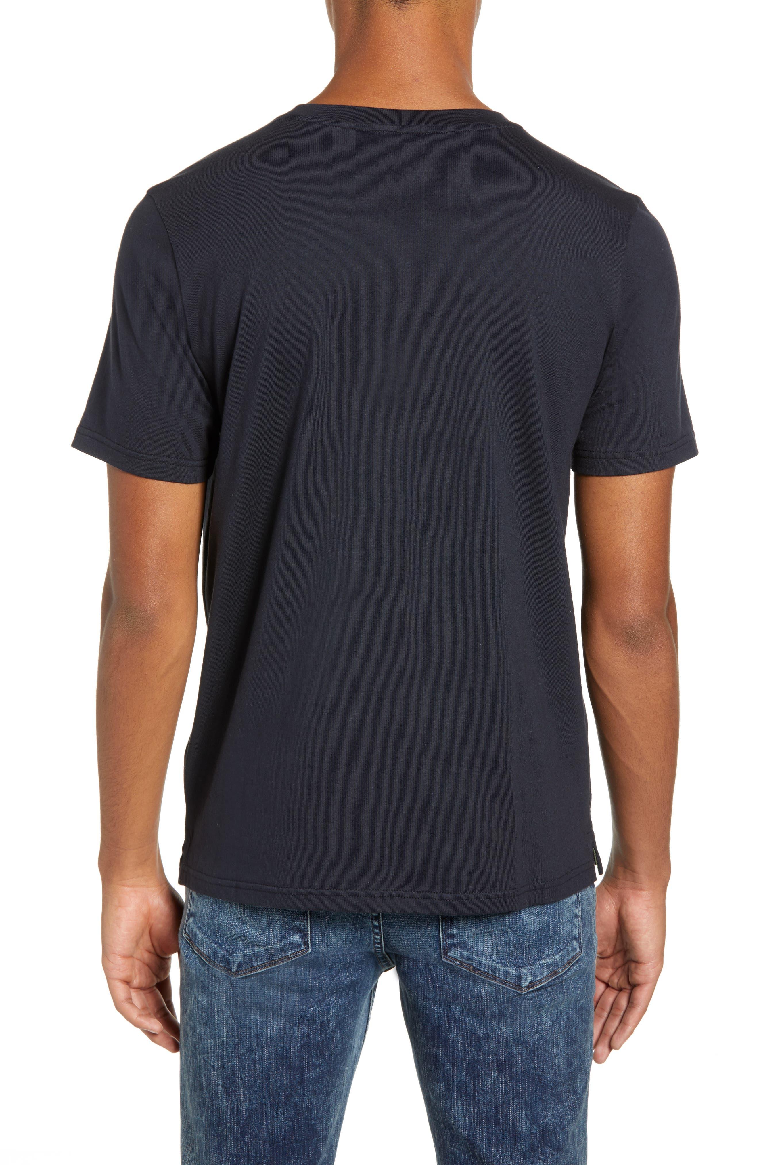 Seamed Pocket T-Shirt,                             Alternate thumbnail 2, color,                             NAVY