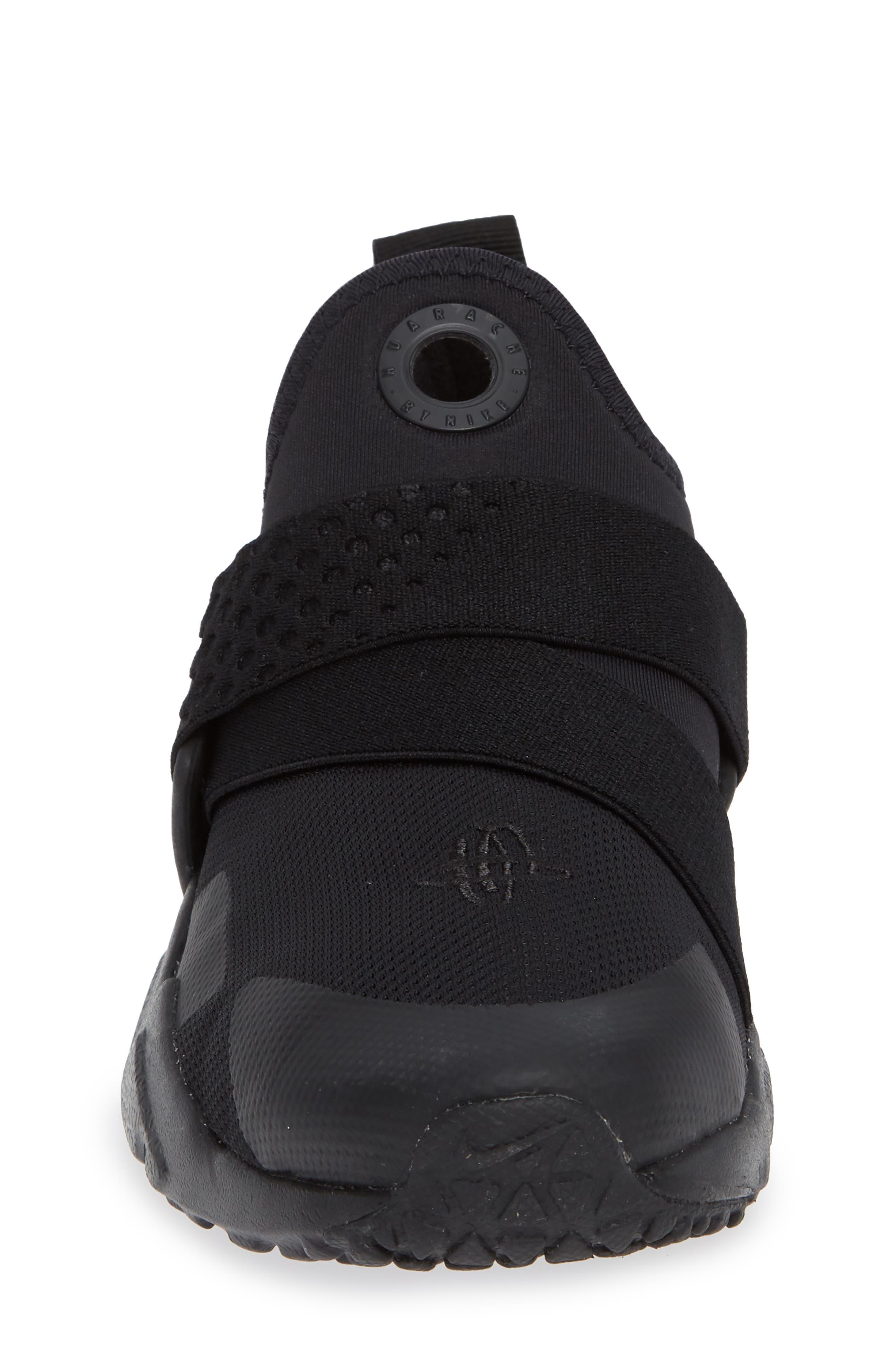 Huarache Extreme Sneaker,                             Alternate thumbnail 4, color,                             BLACK