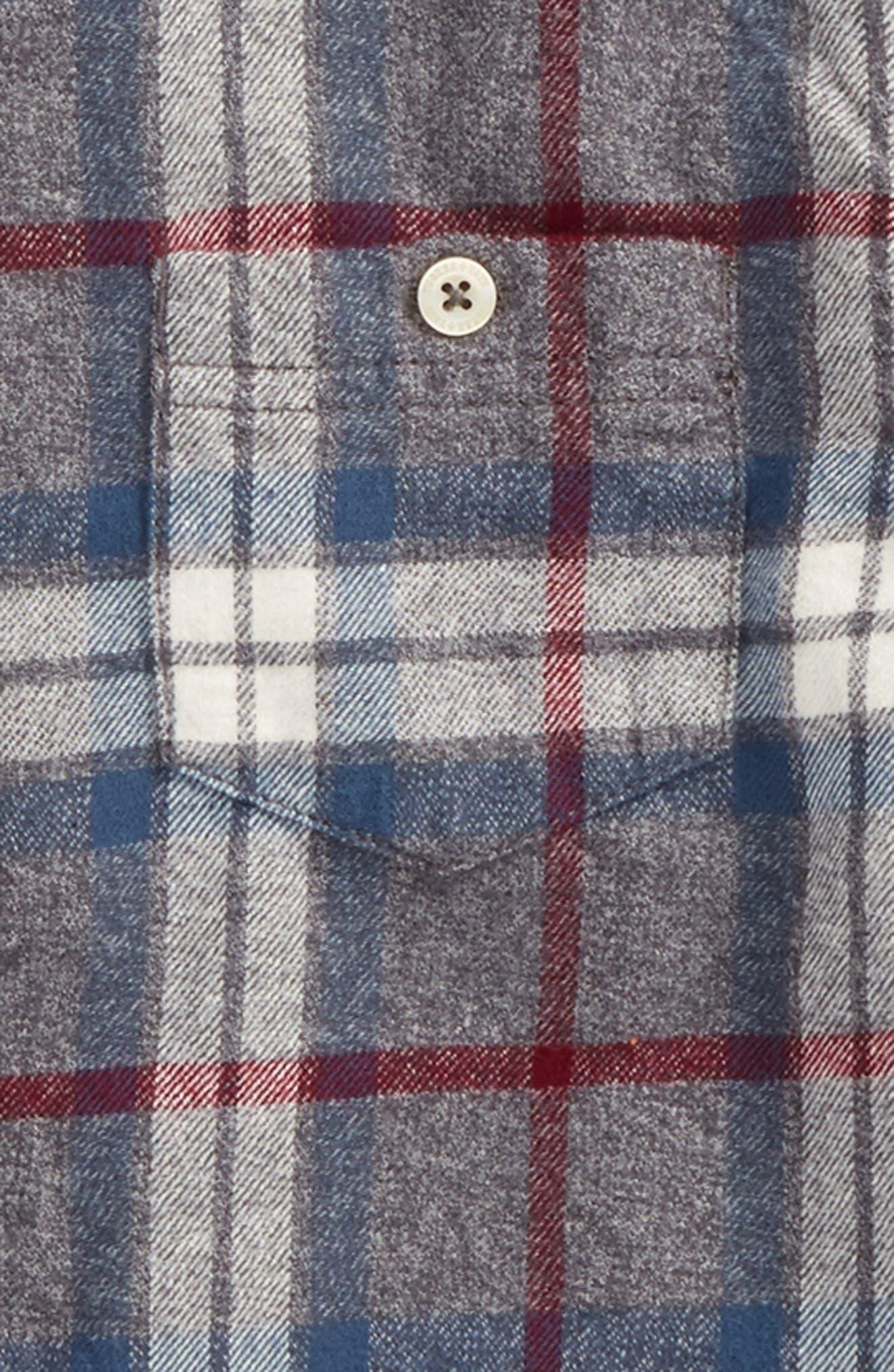 Plaid Flannel Shirt,                             Alternate thumbnail 2, color,                             030