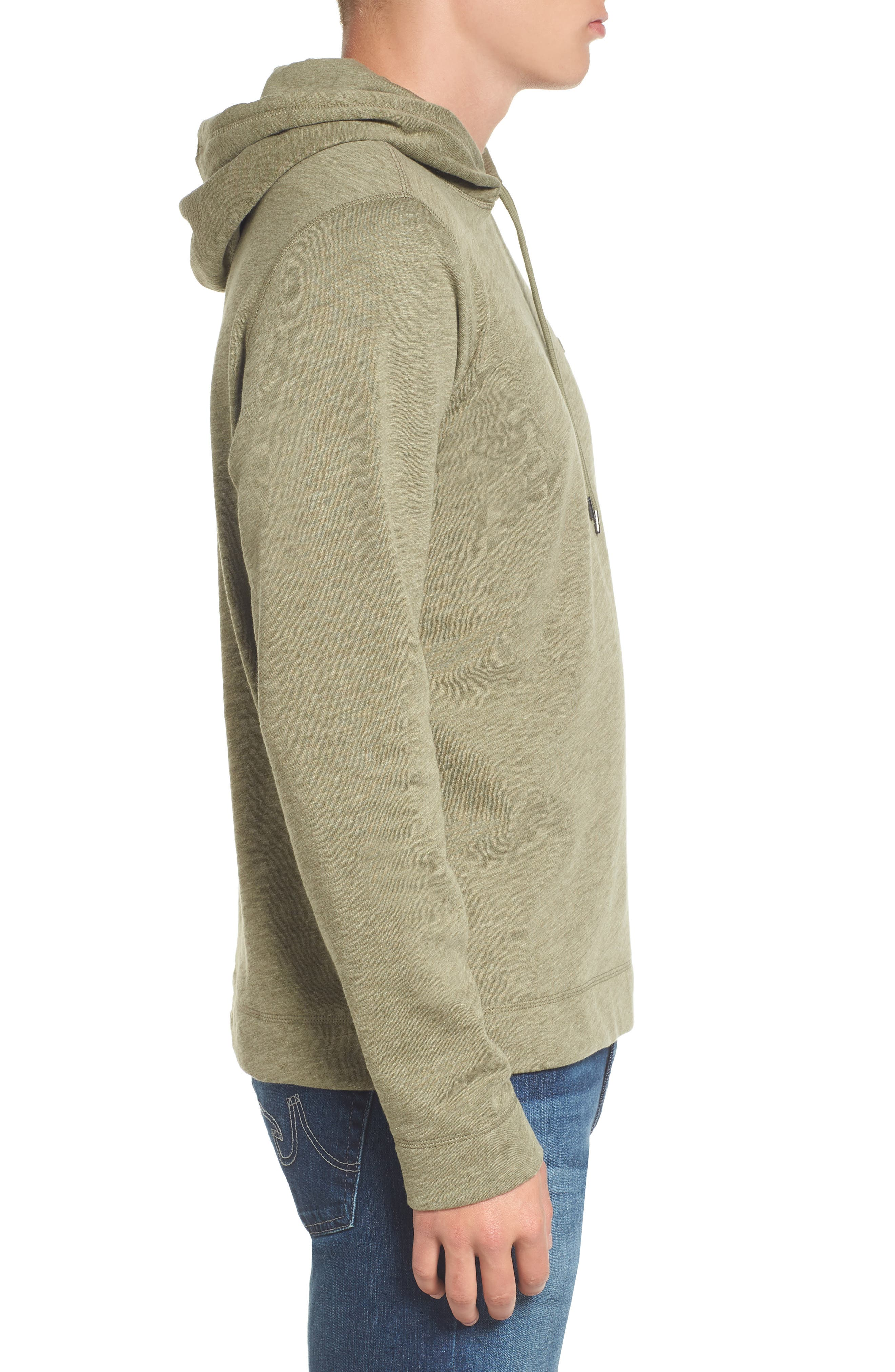 Brushed Fleece Hoodie,                             Alternate thumbnail 3, color,                             028