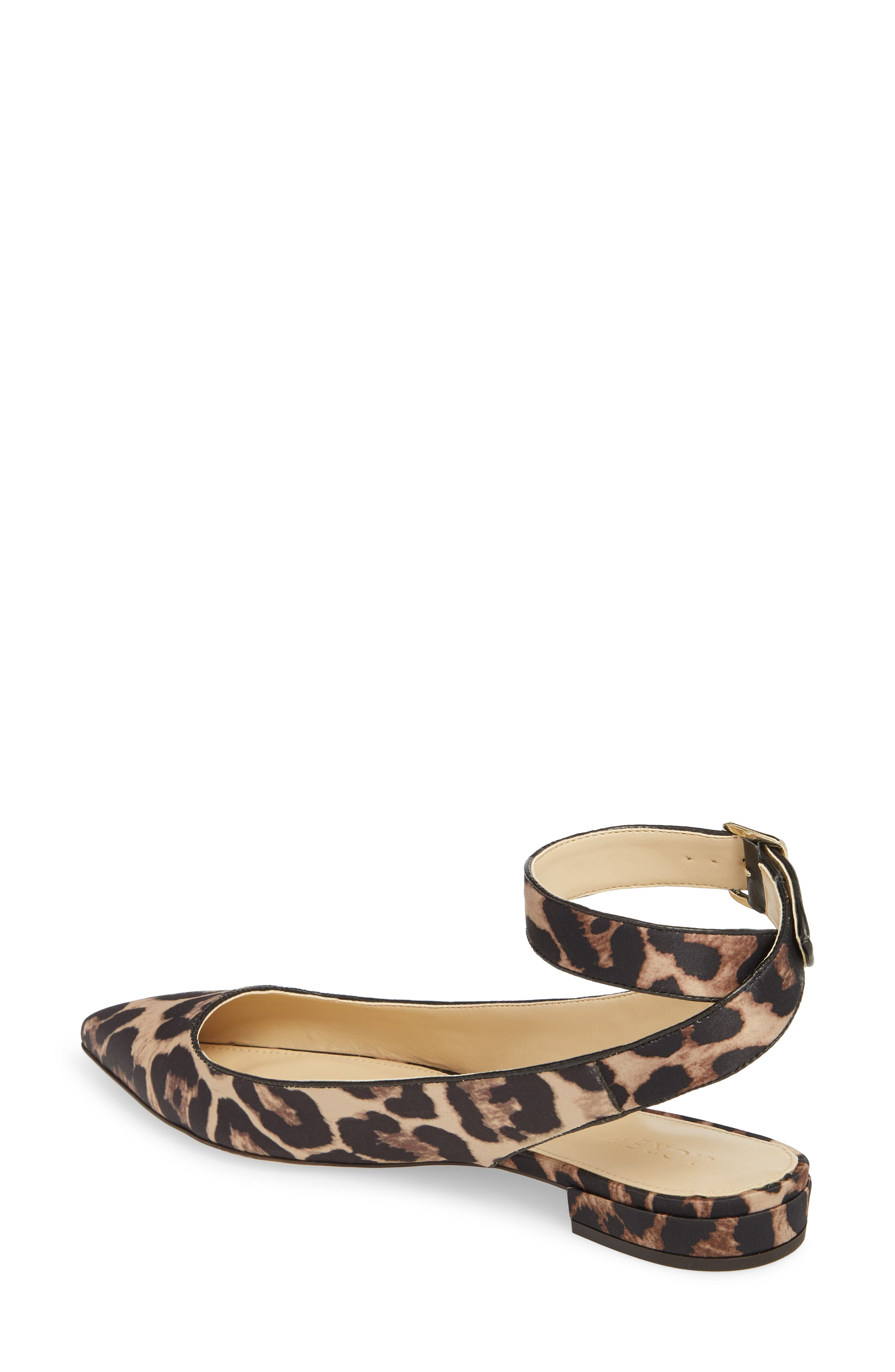 J. Crew Harlech Tabby Print Ankle Strap Flat,                             Alternate thumbnail 2, color,