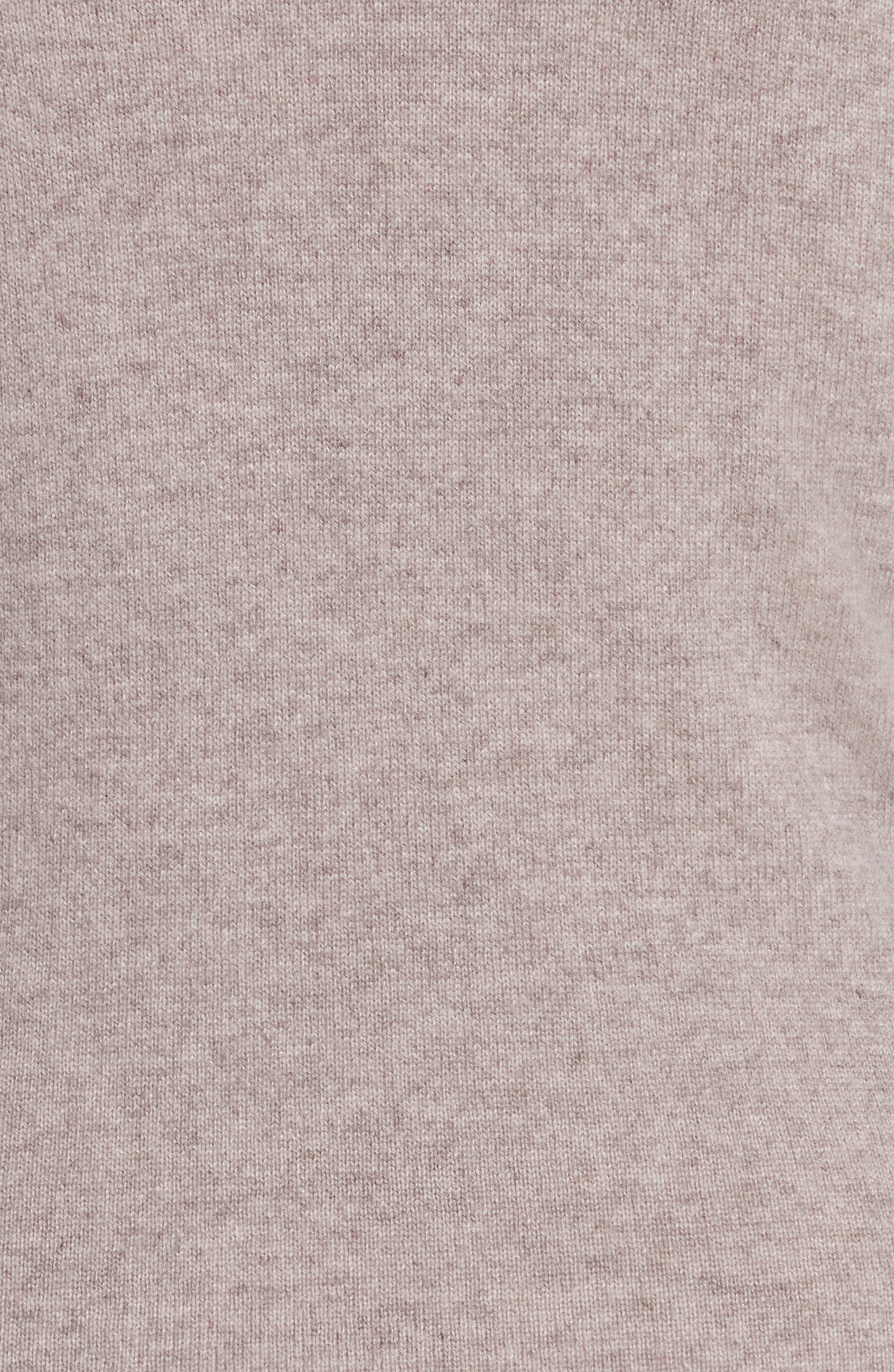 Cashmere Cold Shoulder Turtleneck Sweater Dress,                             Alternate thumbnail 10, color,