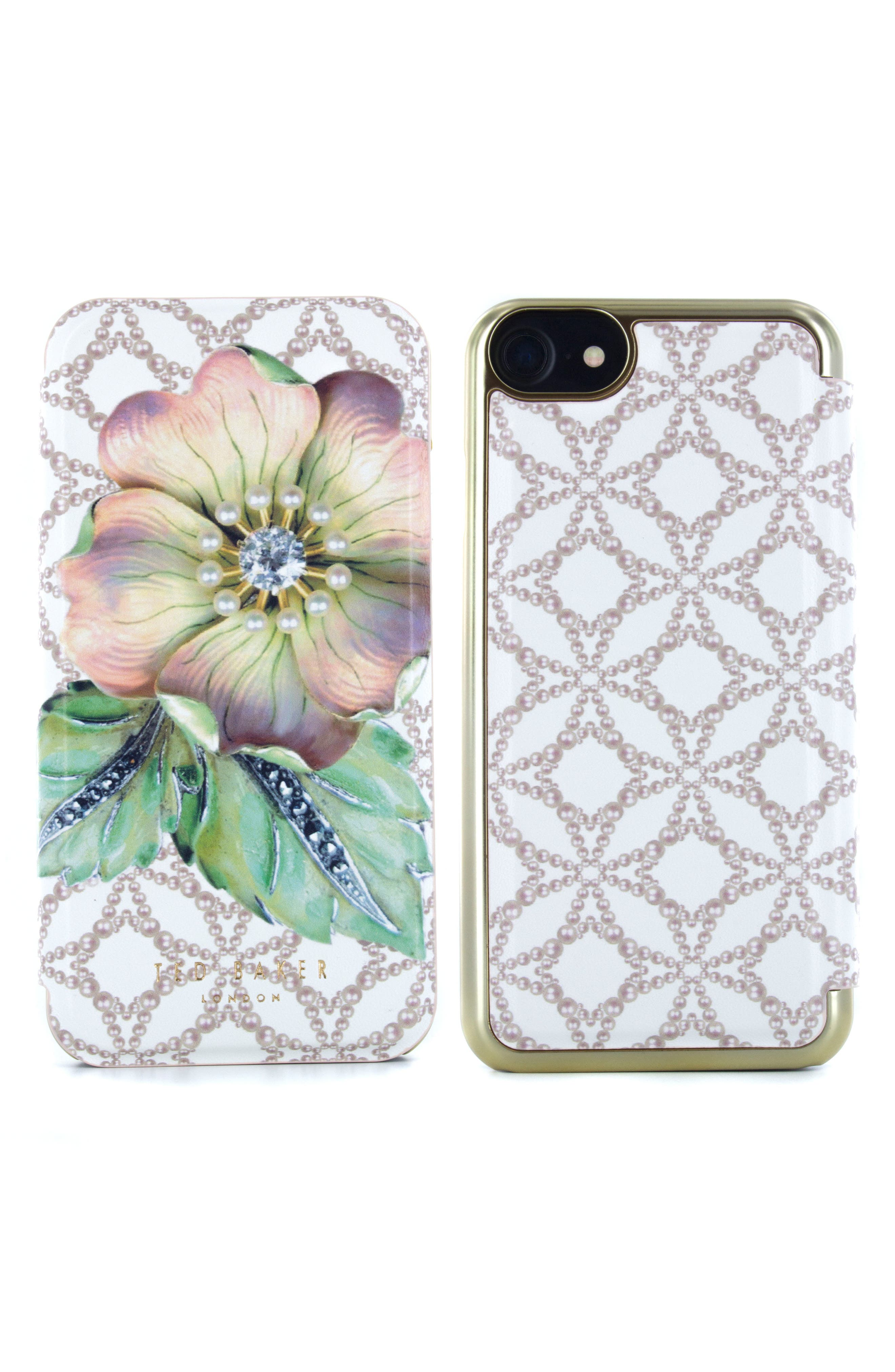 Mavis iPhone 6/6s/7/8 Plus Mirror Folio Case,                         Main,                         color, 650