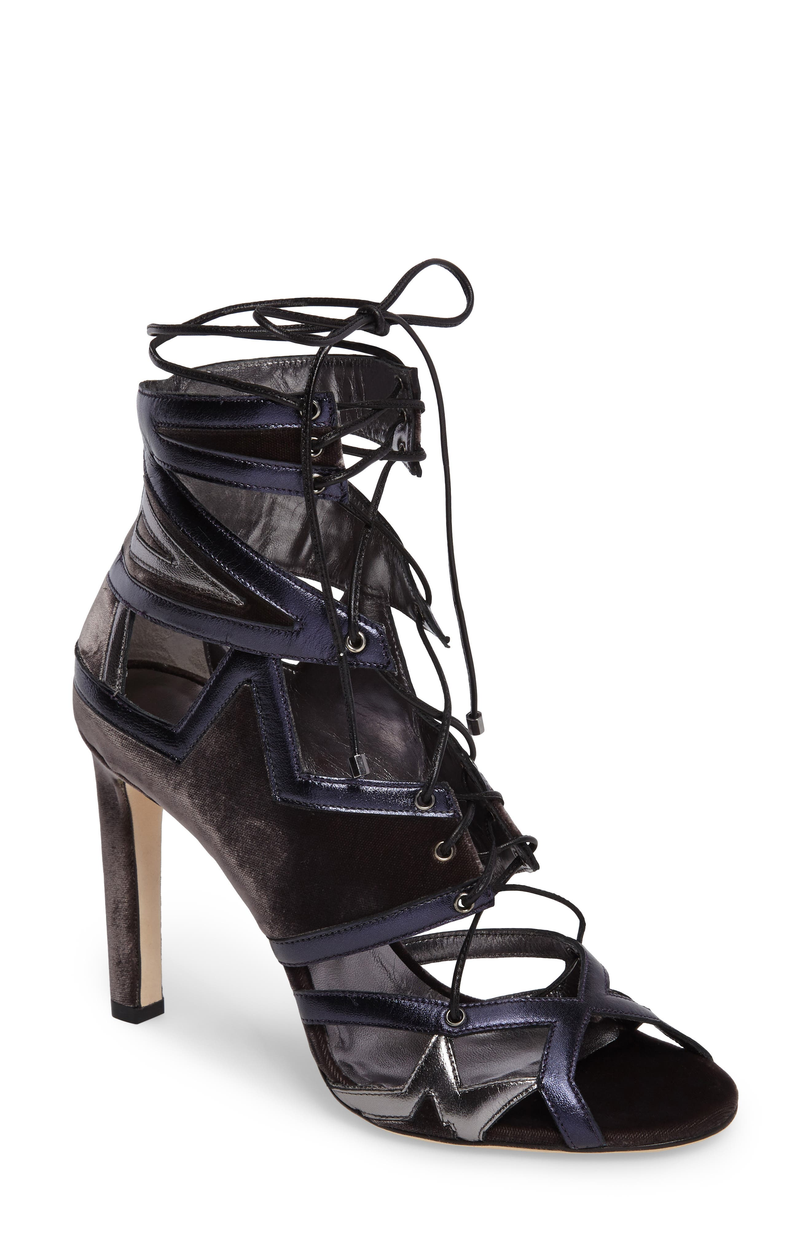 Denney Lace-Up Sandal,                         Main,                         color, 020