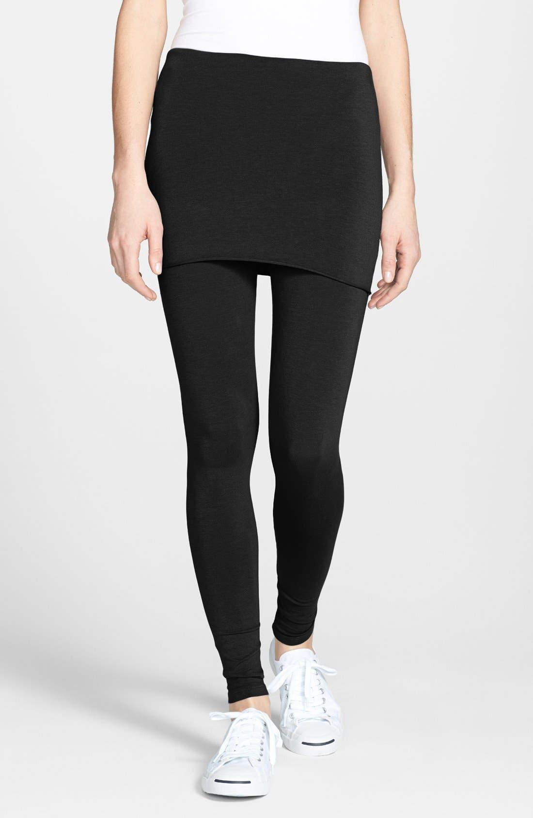 Jersey Skirted Leggings, Main, color, 001