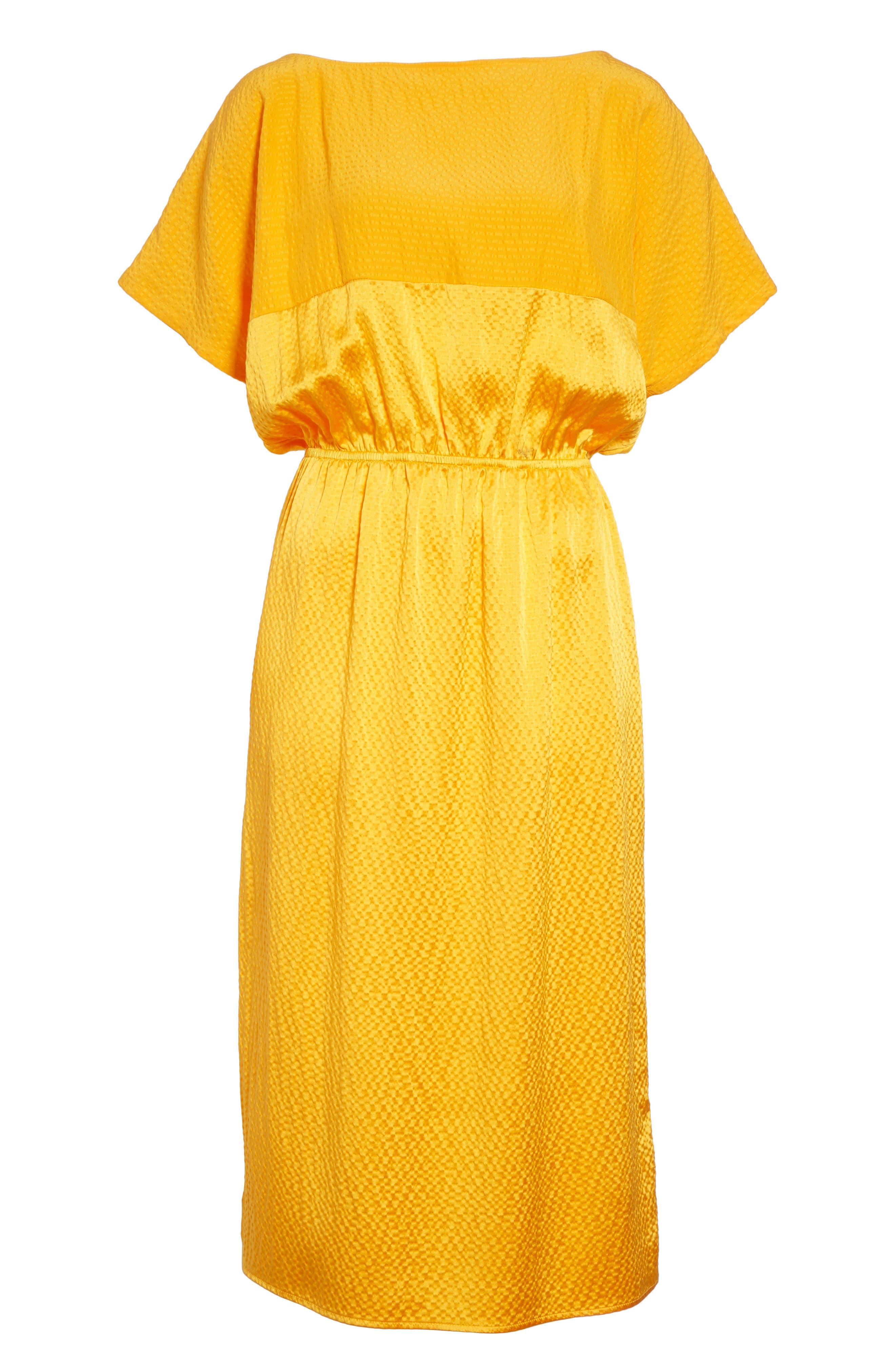 Tonic Silk Midi Dress,                             Alternate thumbnail 6, color,                             850