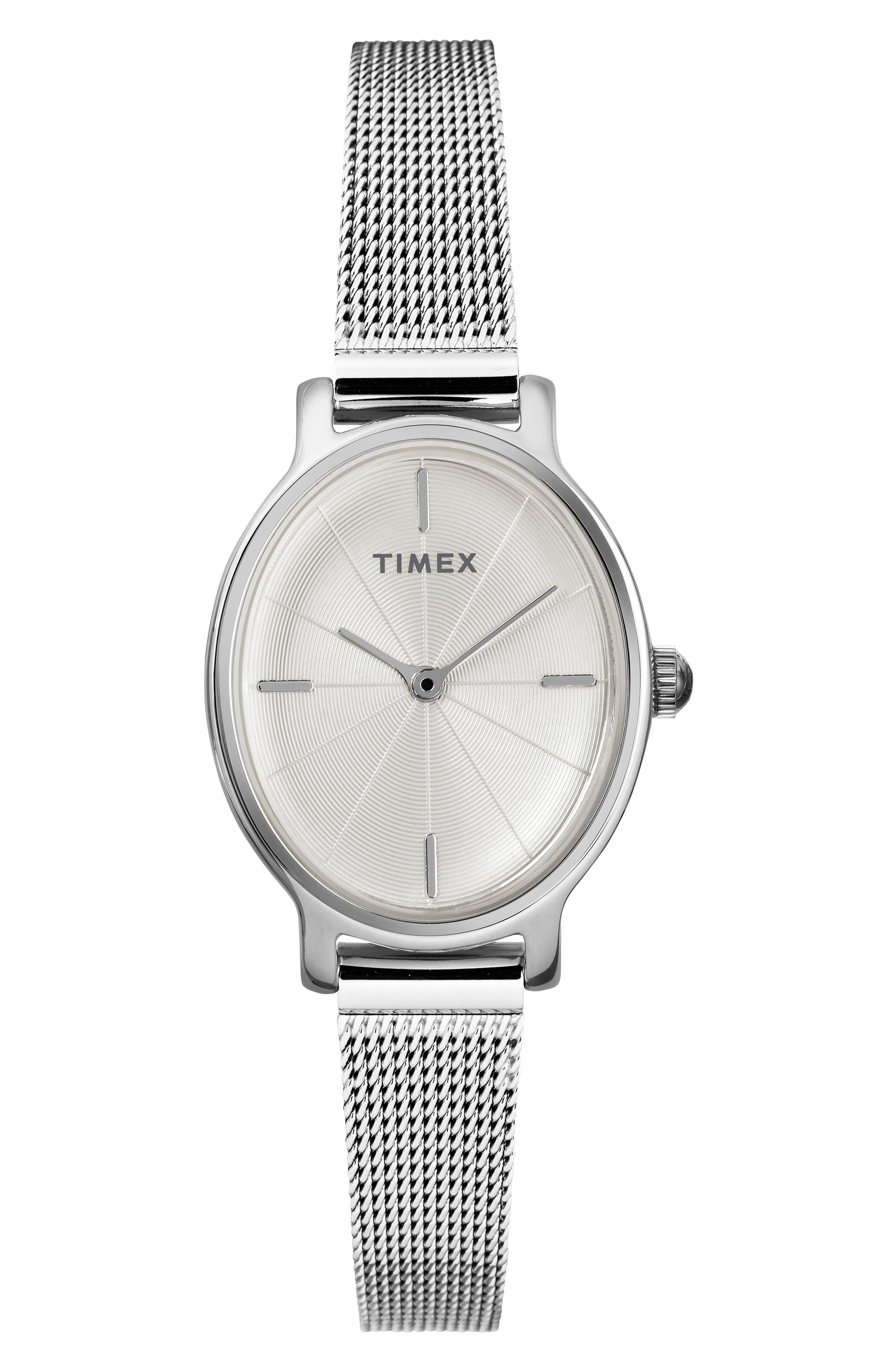 Timex Milano Oval Mesh Strap Watch, 2m