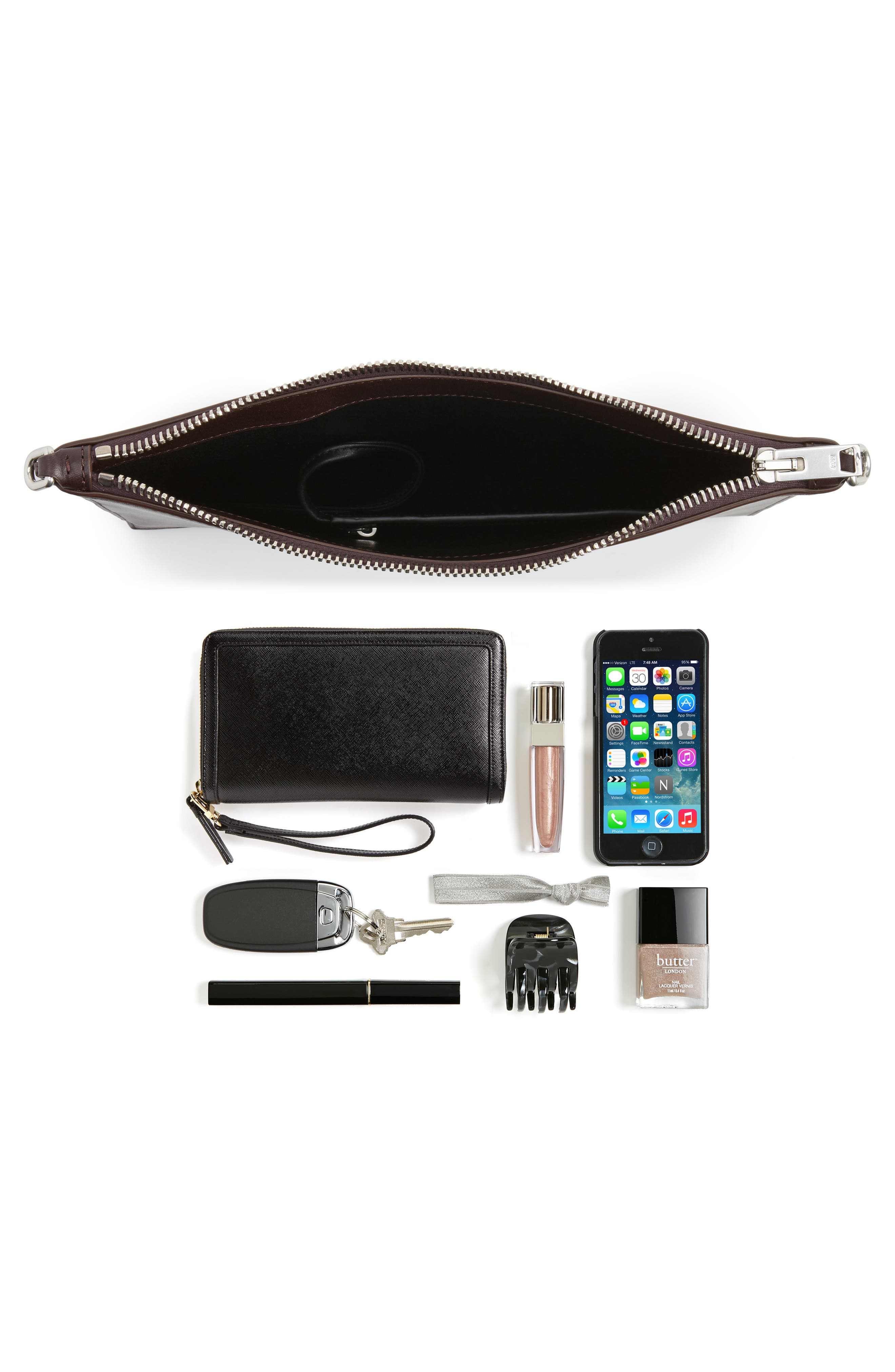 Genesis Box Chain Leather Pouch,                             Alternate thumbnail 7, color,                             240