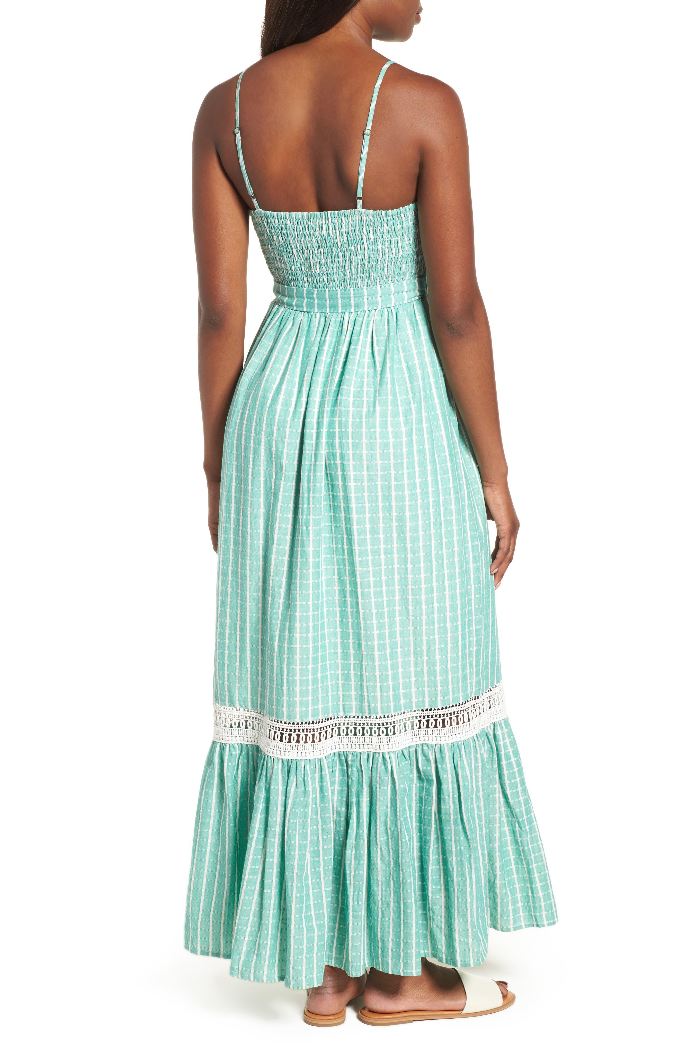 Tie Waist Cotton Maxi Dress,                             Alternate thumbnail 6, color,