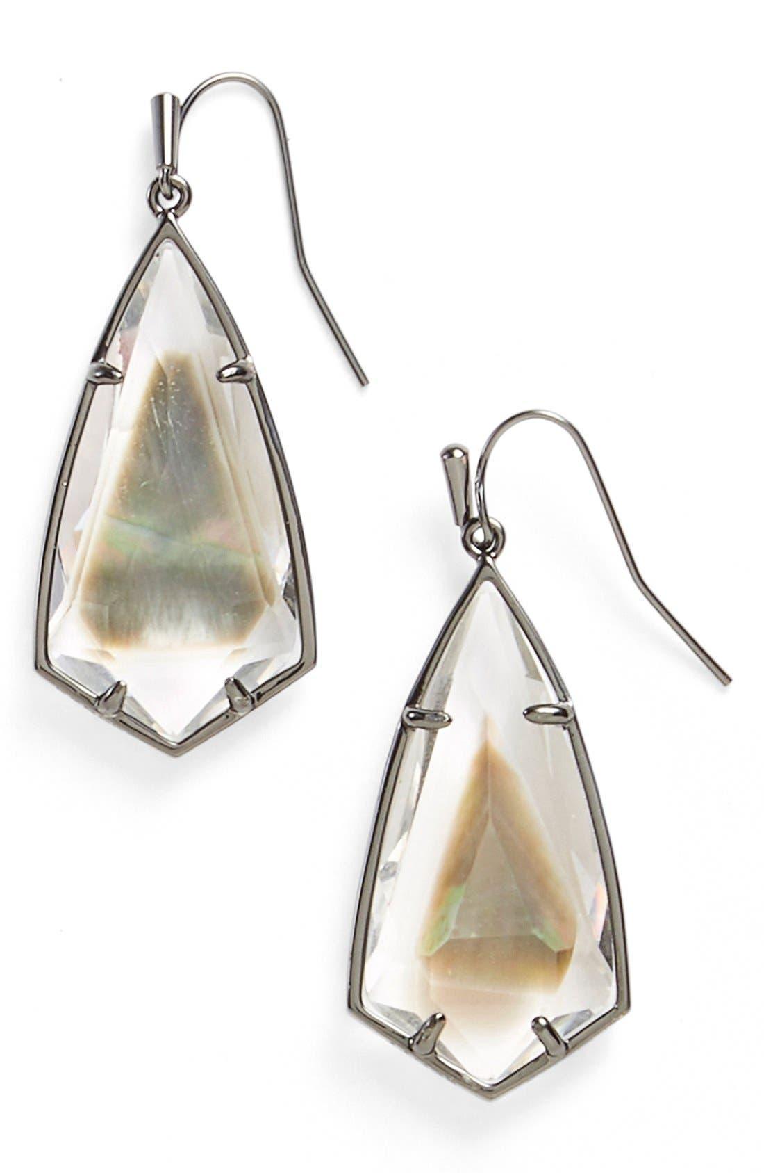 Carla Semiprecious Stone Drop Earrings,                             Main thumbnail 2, color,