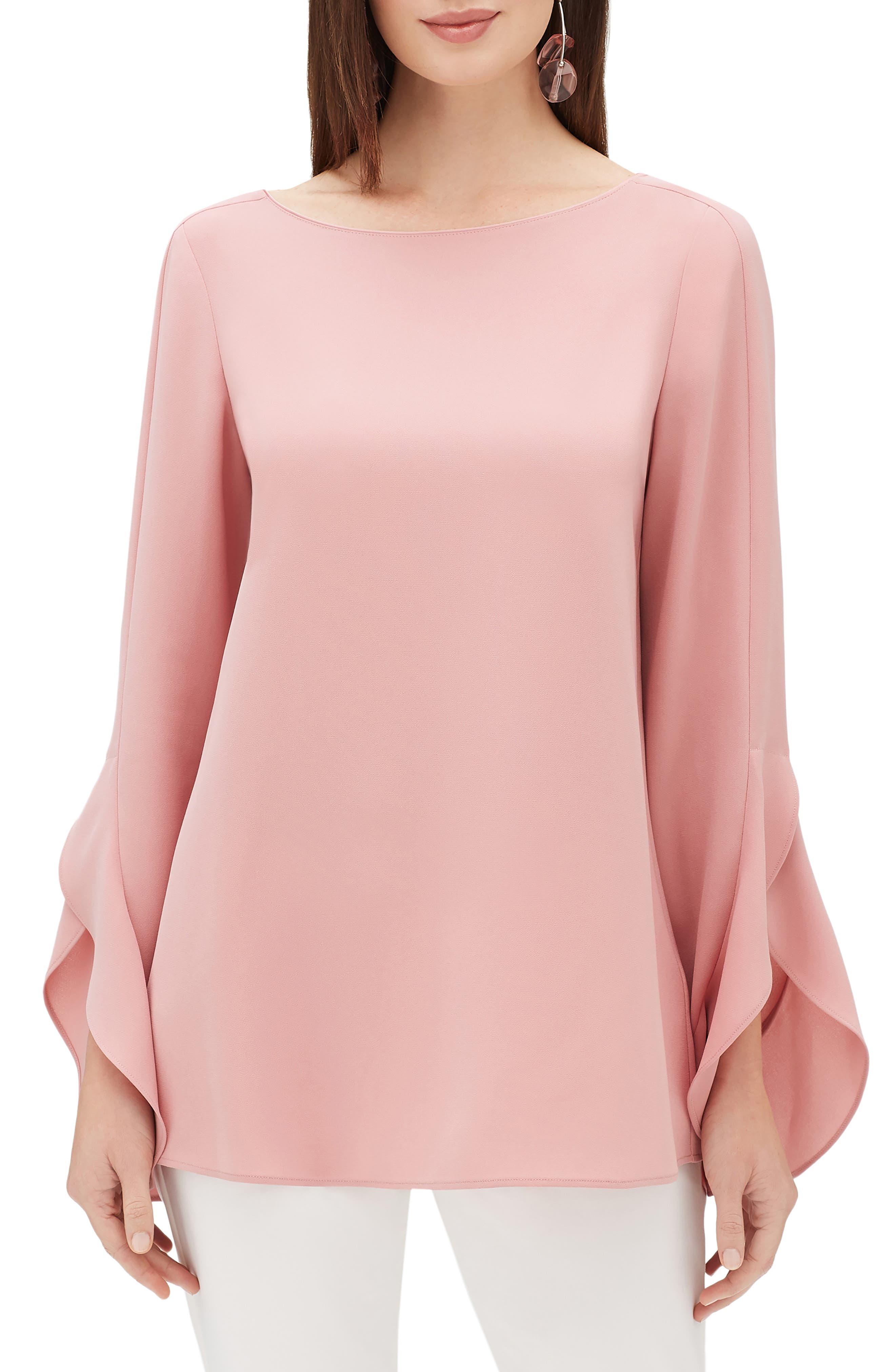 LAFAYETTE 148 NEW YORK Emory Finesse Crepe Blouse, Main, color, 650