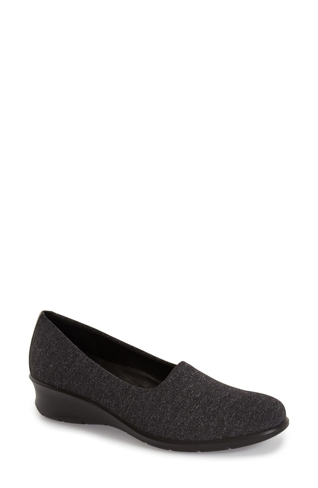'Felicia - Stretch' Wedge Loafer,                             Main thumbnail 1, color,                             019