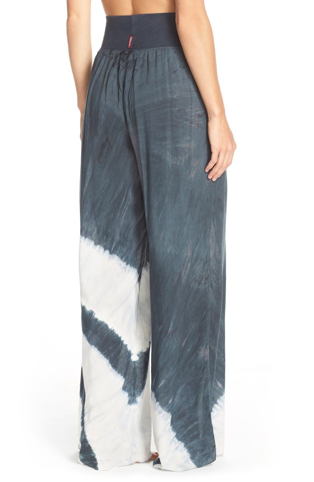 Tie Dye Wide Leg Pants,                             Alternate thumbnail 3, color,                             001