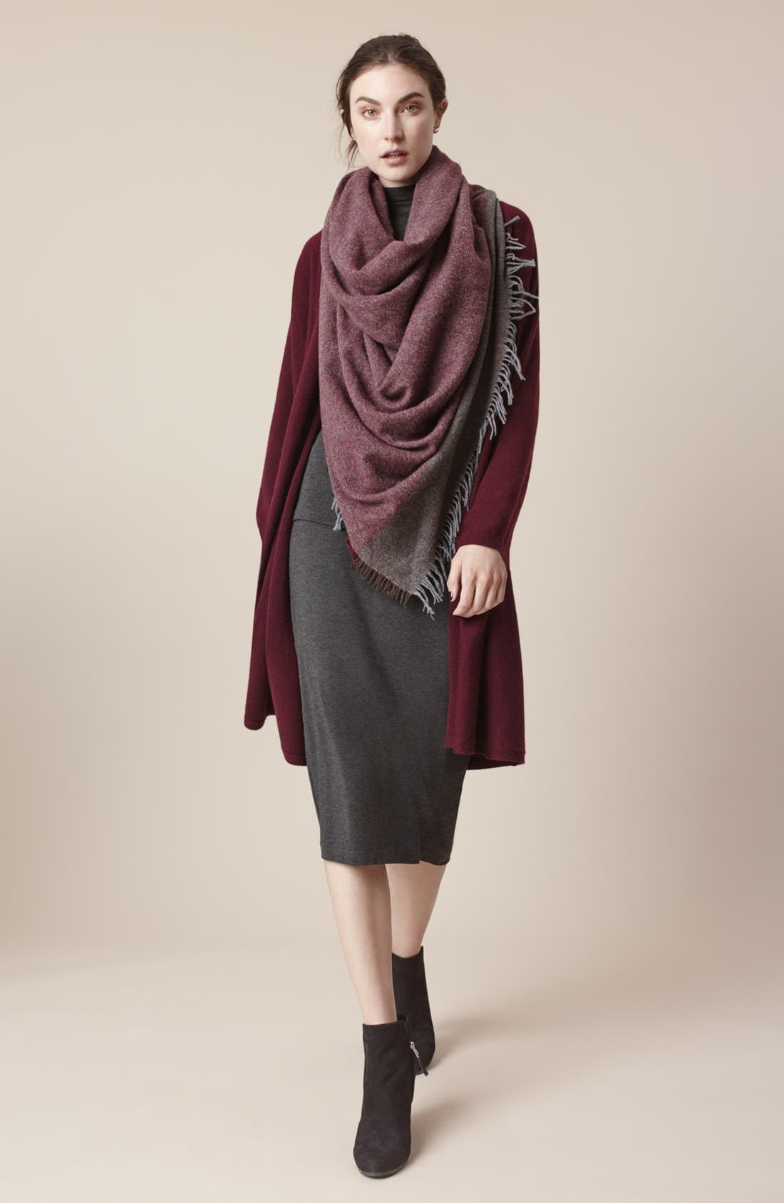 EILEEN FISHER,                             Lightweight Tencel<sup>®</sup> Lyocell Stretch Jersey Top,                             Alternate thumbnail 6, color,                             001
