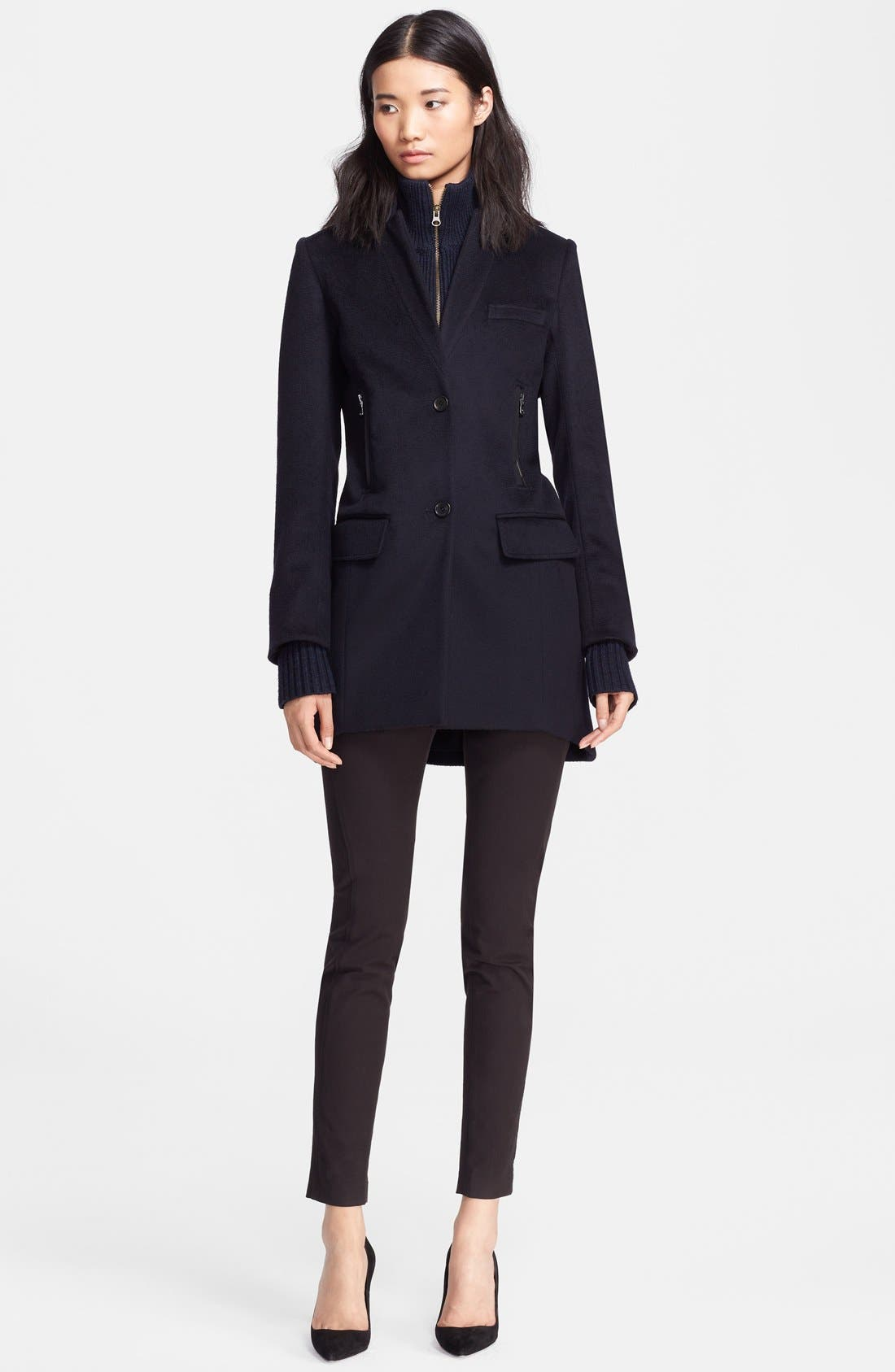 Wool Car Coat with Removable Dickey & Cuffs, Main, color, 410