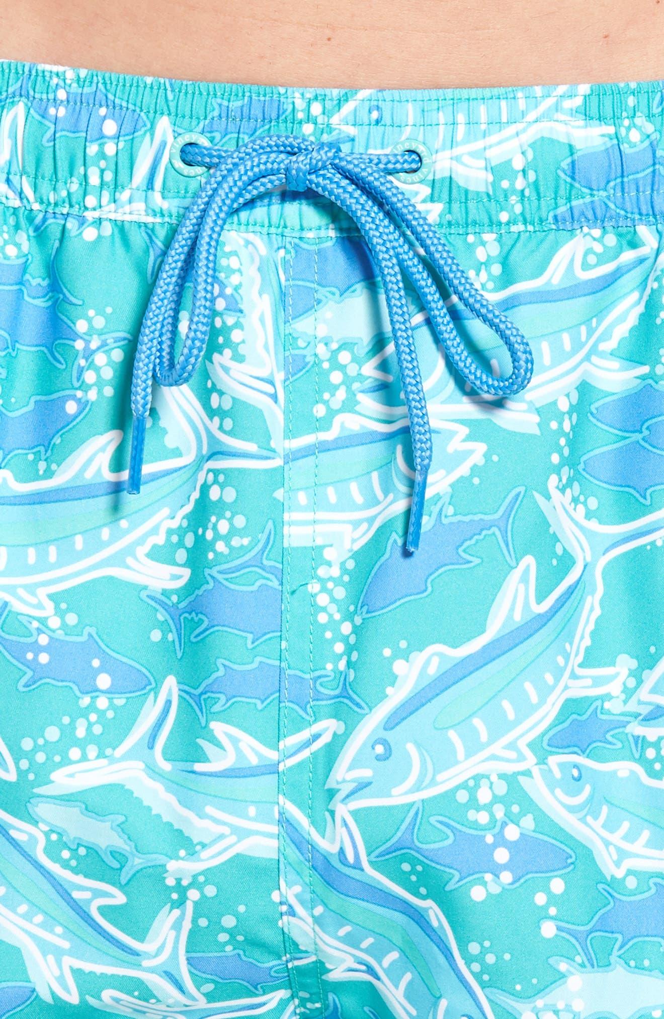 VINEYARD VINES,                             Chappy School of Tuna Swim Trunks,                             Alternate thumbnail 4, color,                             356