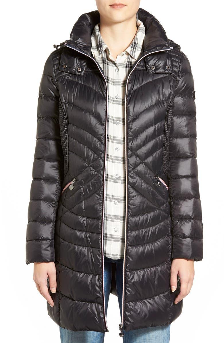 ea47555be1a Bernardo Hooded Down   PrimaLoft® Fill Coat (Regular   Petite ...