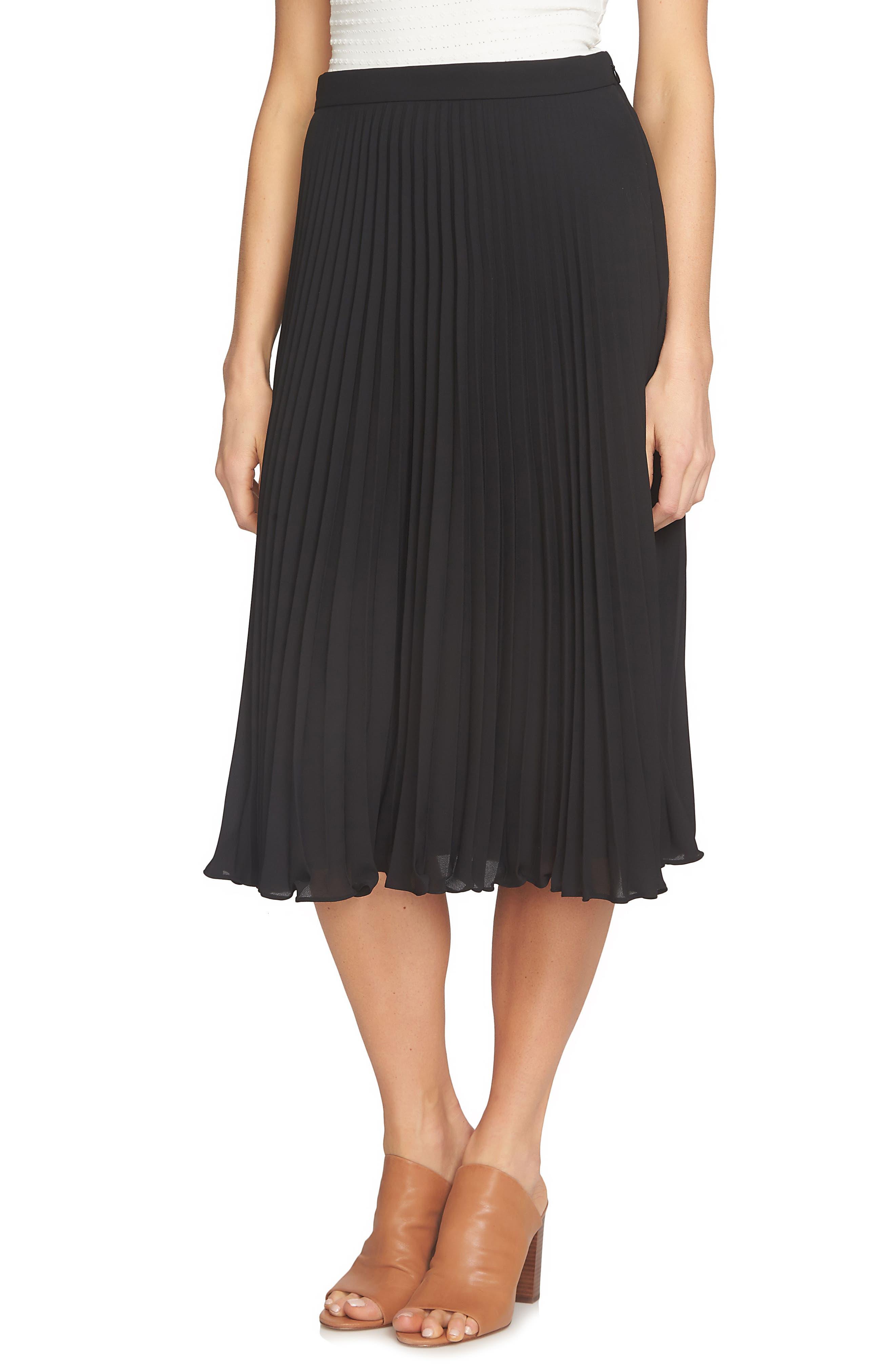 Pleated Midi Skirt,                         Main,                         color,