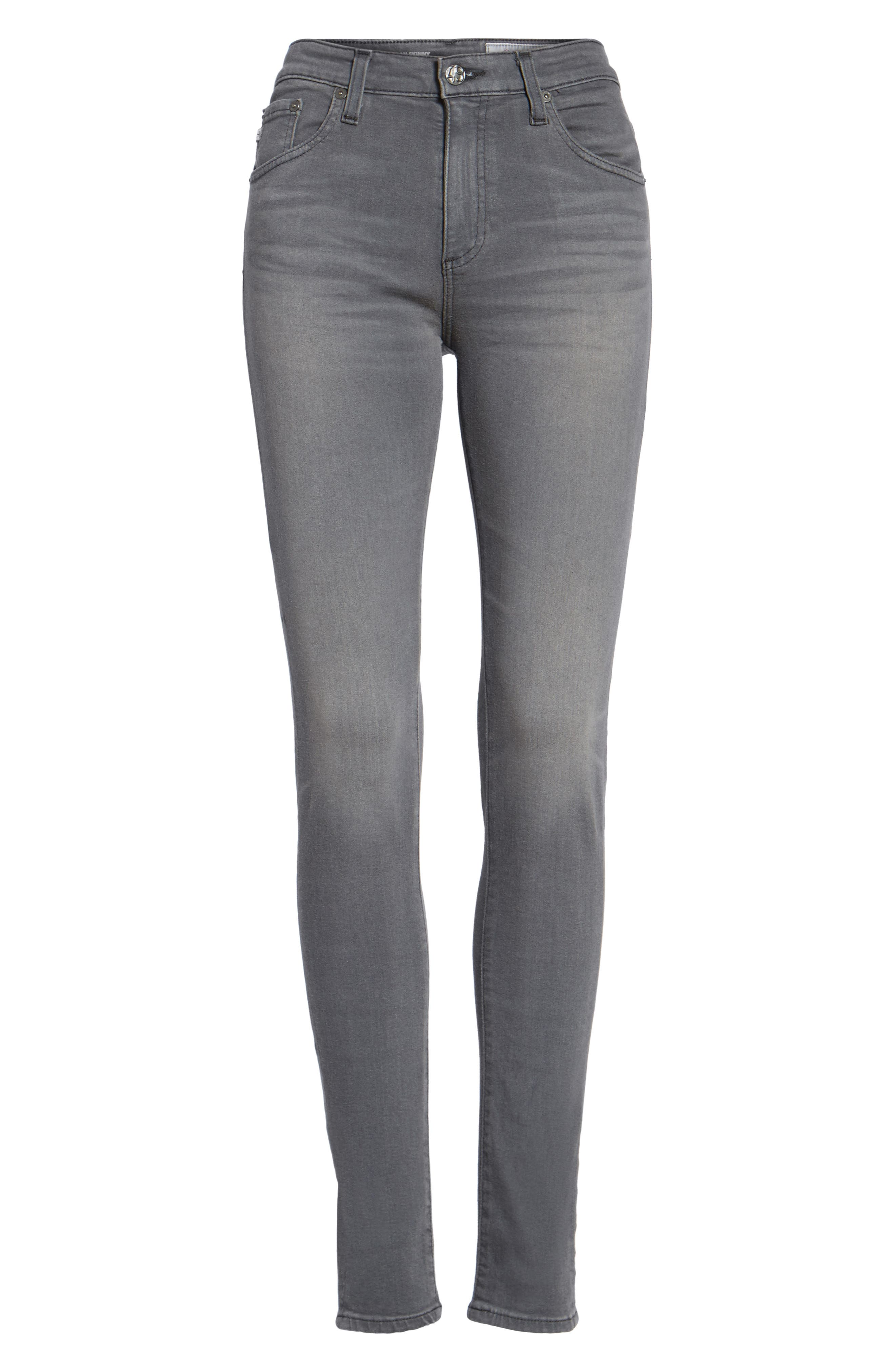 Farrah High WaistSkinny Jeans,                             Alternate thumbnail 6, color,                             099