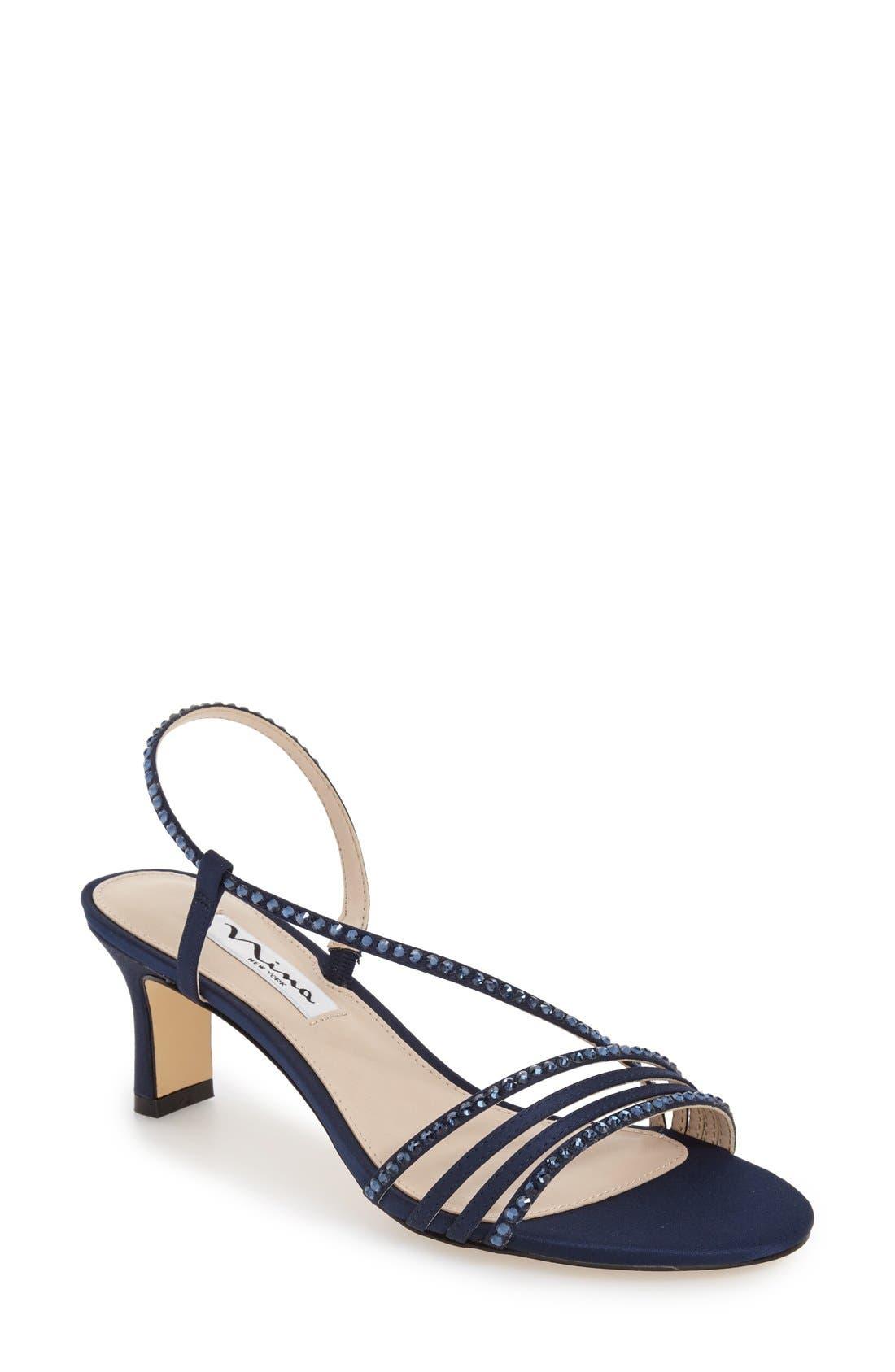 19f2c8a292c Nina  Gerri  Embellished Slingback Sandal