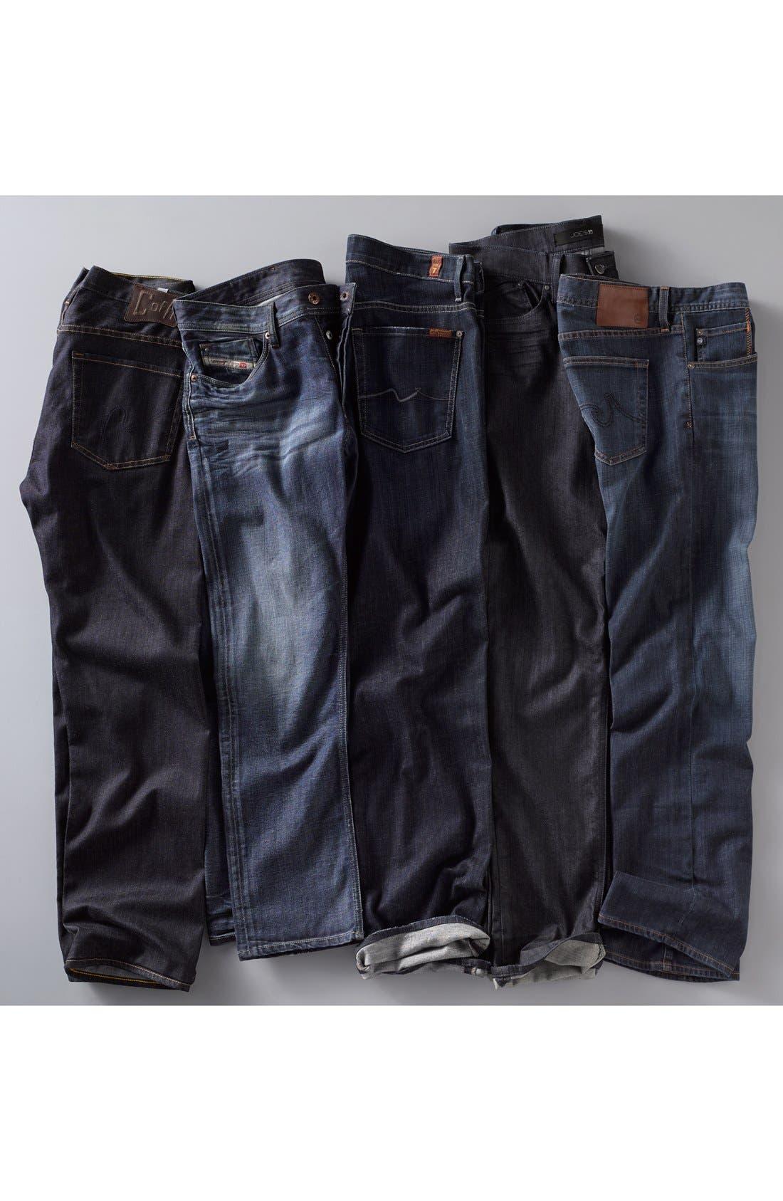 Protégé Straight Leg Jeans,                             Alternate thumbnail 8, color,                             HUNTS WASH