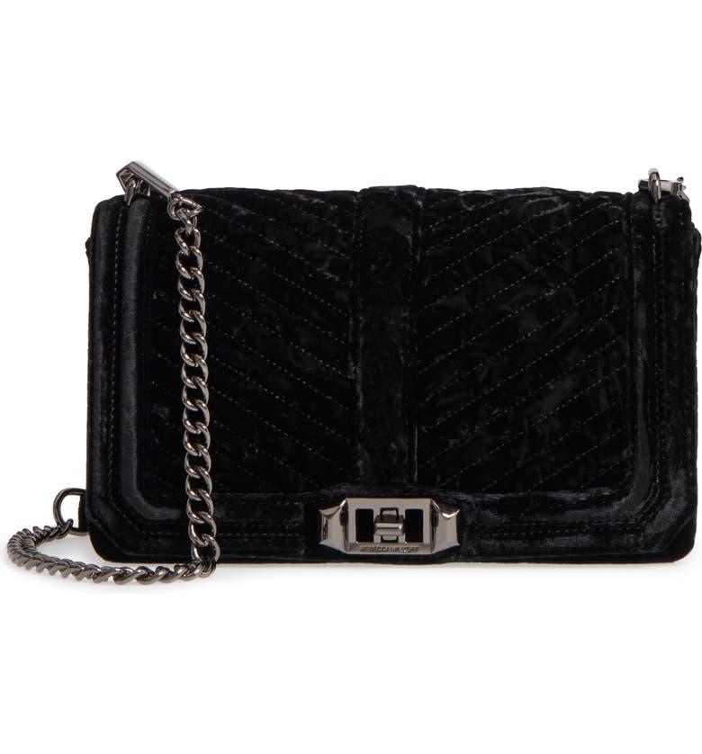 49b83ee0e366 Rebecca Minkoff Love Velvet Quilted Crossbody Bag