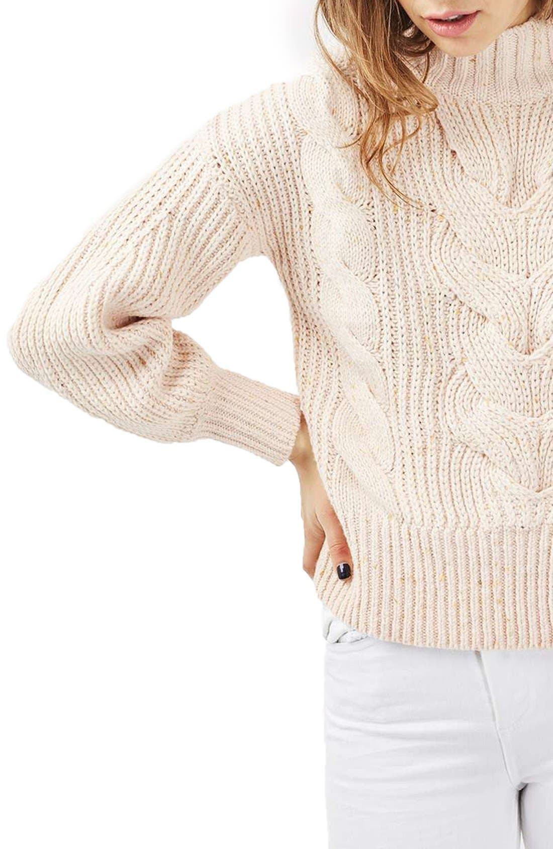 Cable Knit Sweater,                             Alternate thumbnail 2, color,                             250