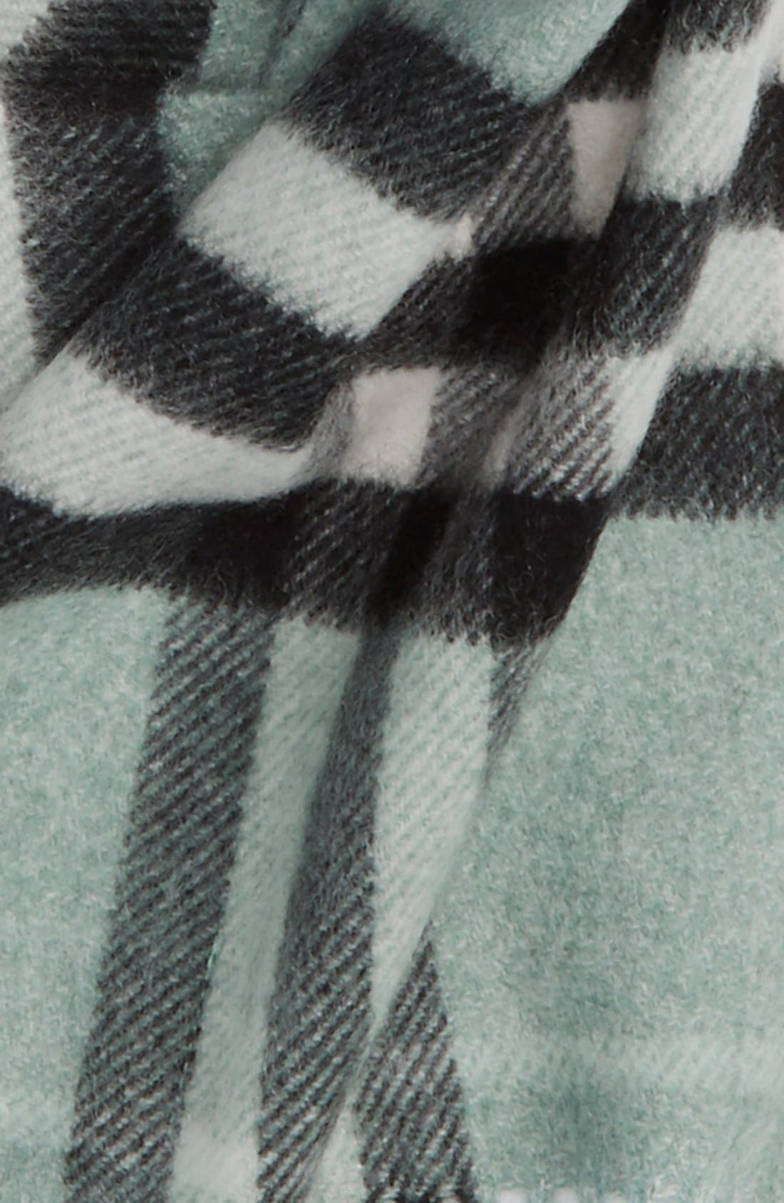 'Exploded Check' Cashmere Scarf,                             Alternate thumbnail 2, color,                             334