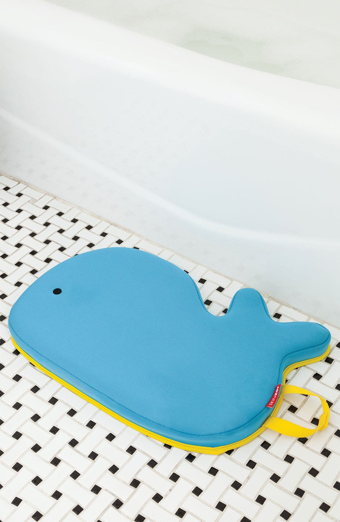 SKIP HOP,                             'Moby' Bath Kneeler,                             Alternate thumbnail 4, color,                             BLUE W/ YELLOW TRIM