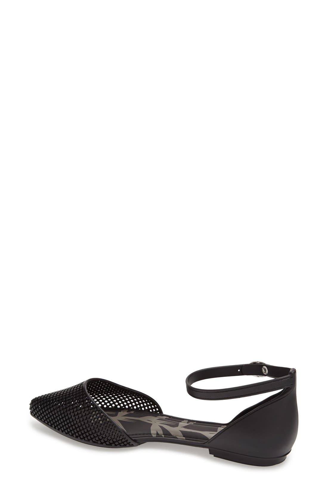 MEL BY MELISSA,                             'Pitanga' Ankle Strap Flat,                             Alternate thumbnail 2, color,                             001