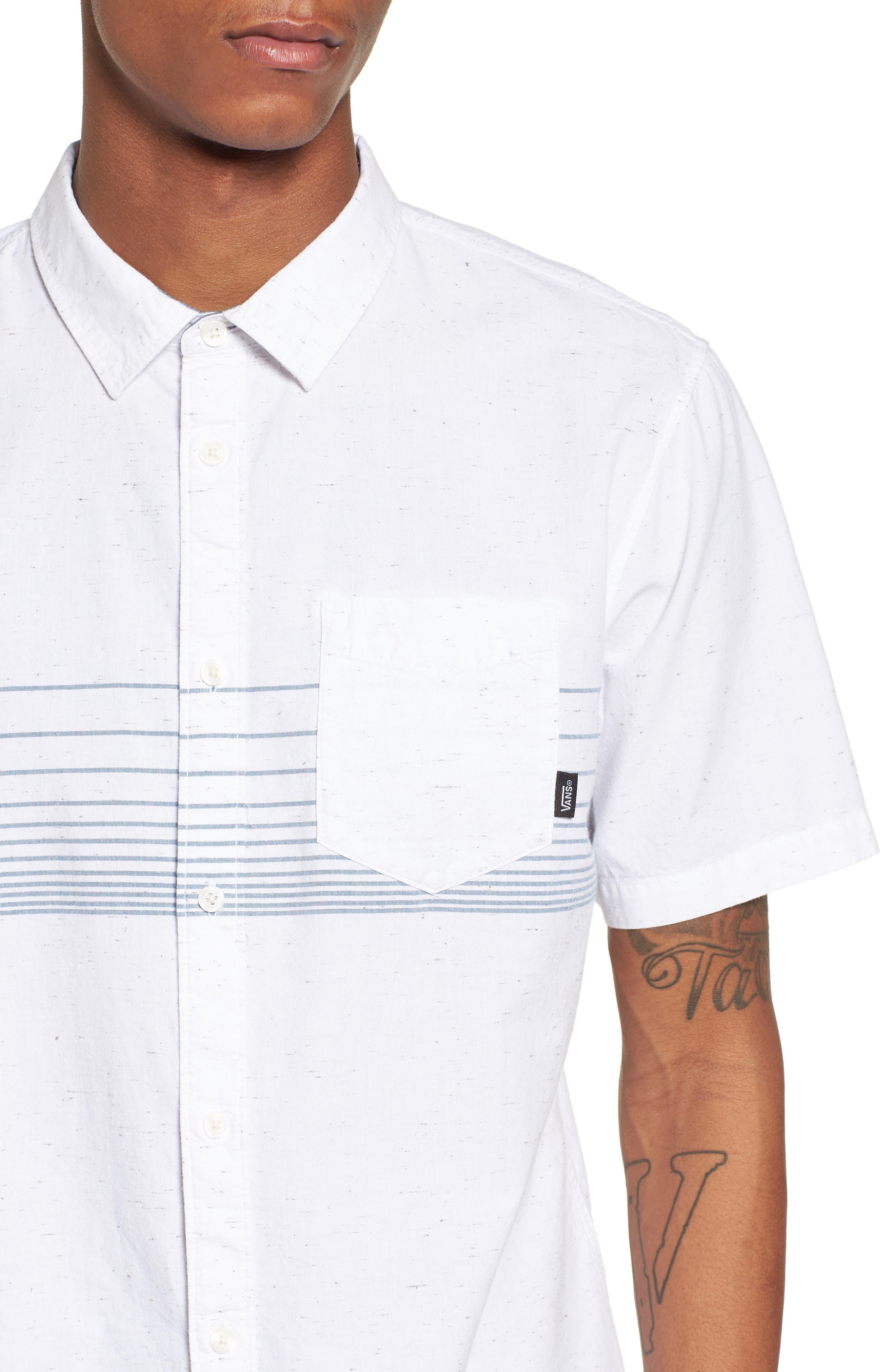 Gillis Woven Shirt,                             Alternate thumbnail 4, color,                             100