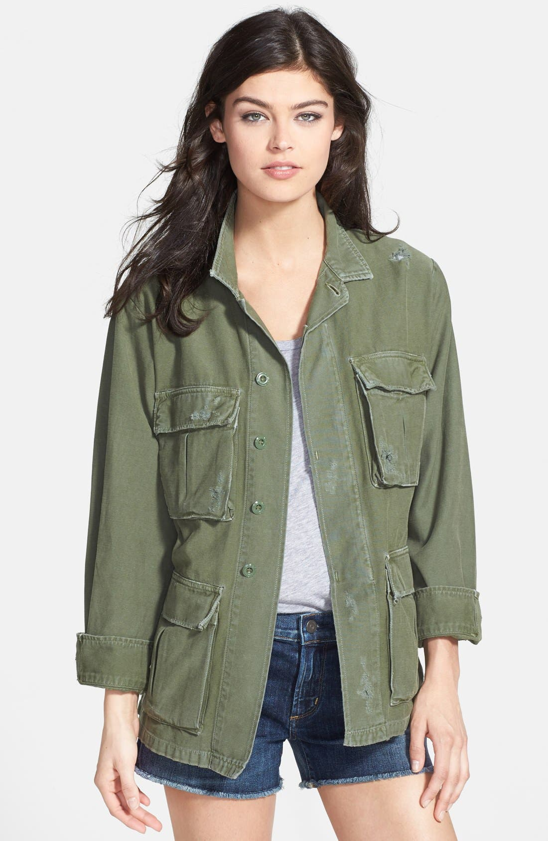 CITIZENS OF HUMANITY,                             'Kylie' Distressed Military Jacket,                             Main thumbnail 1, color,                             369