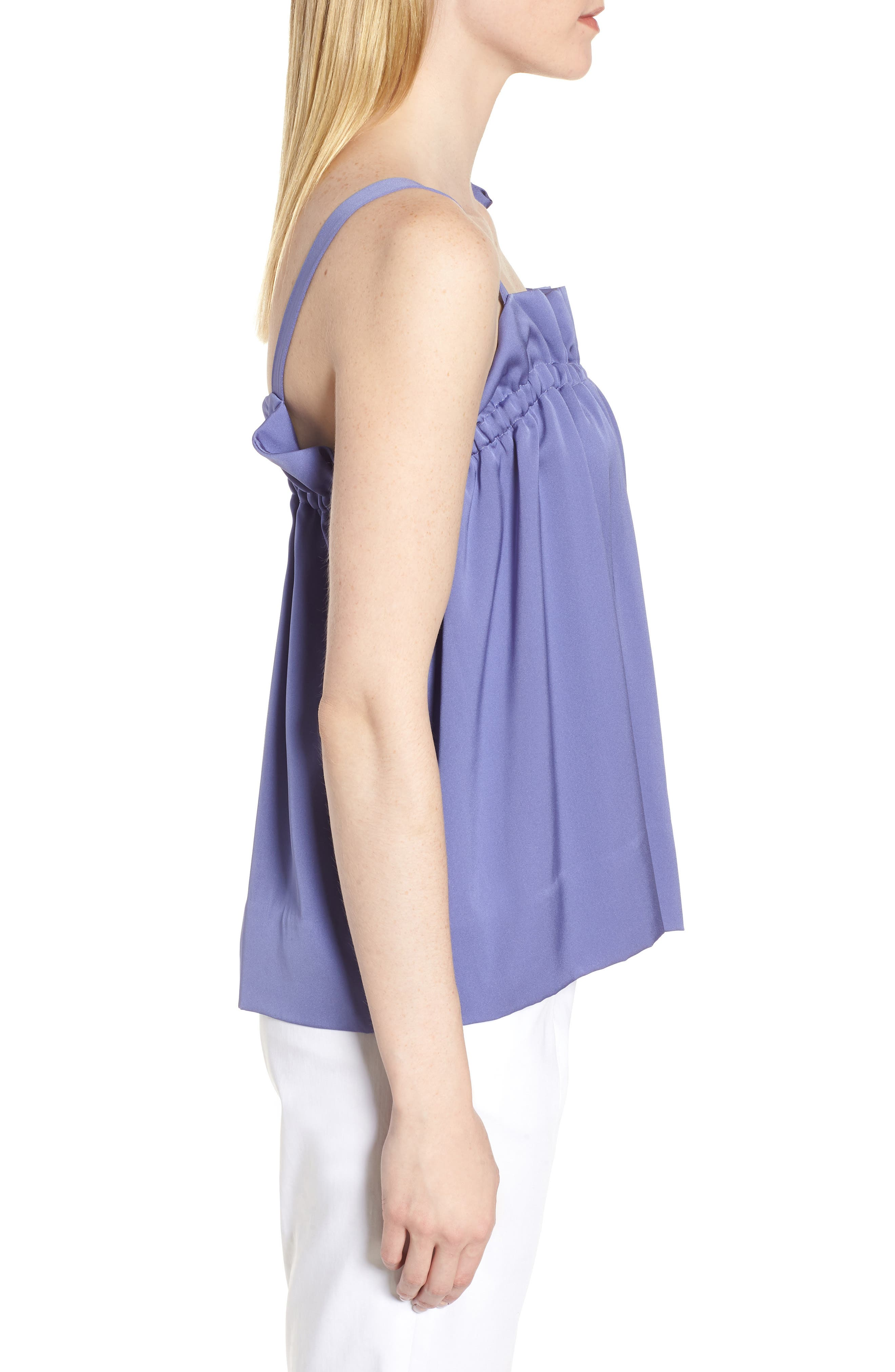 Tie Strap Stretch Silk Camisole,                             Alternate thumbnail 3, color,                             510