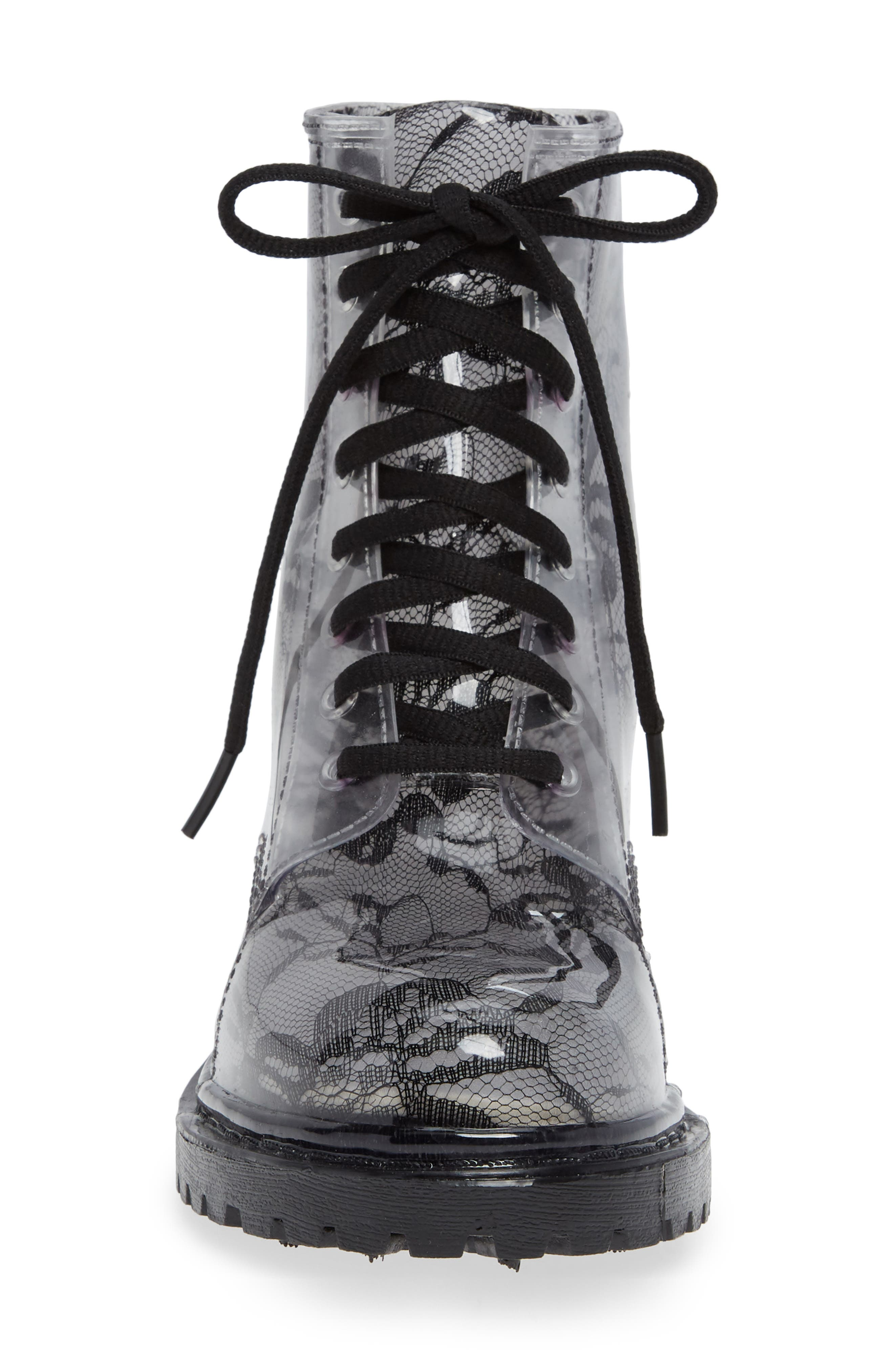 Charlie Waterproof Boot,                             Alternate thumbnail 4, color,                             BLACK LACE