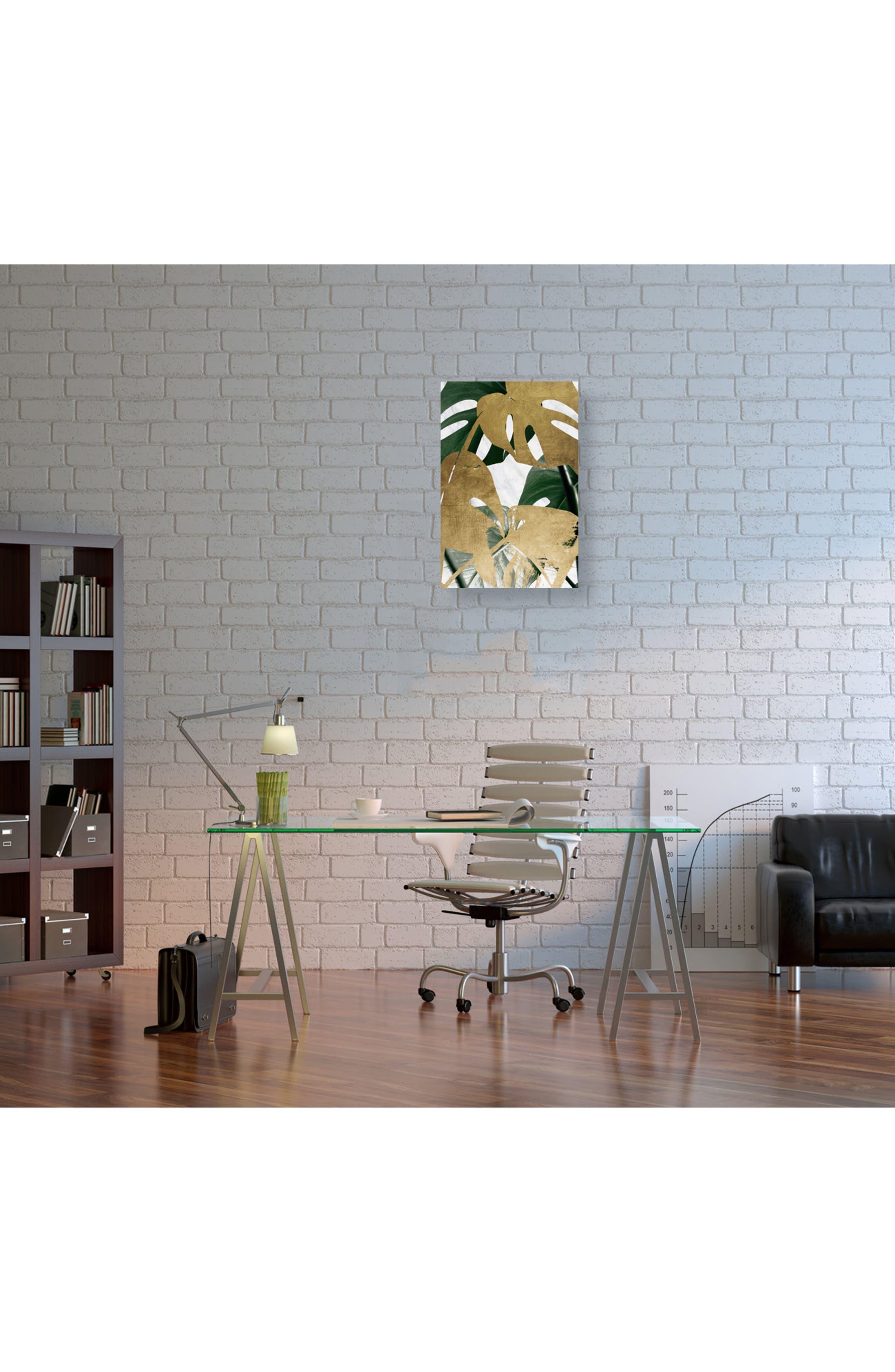 Golden Plants Canvas Wall Art,                             Alternate thumbnail 2, color,                             GREEN