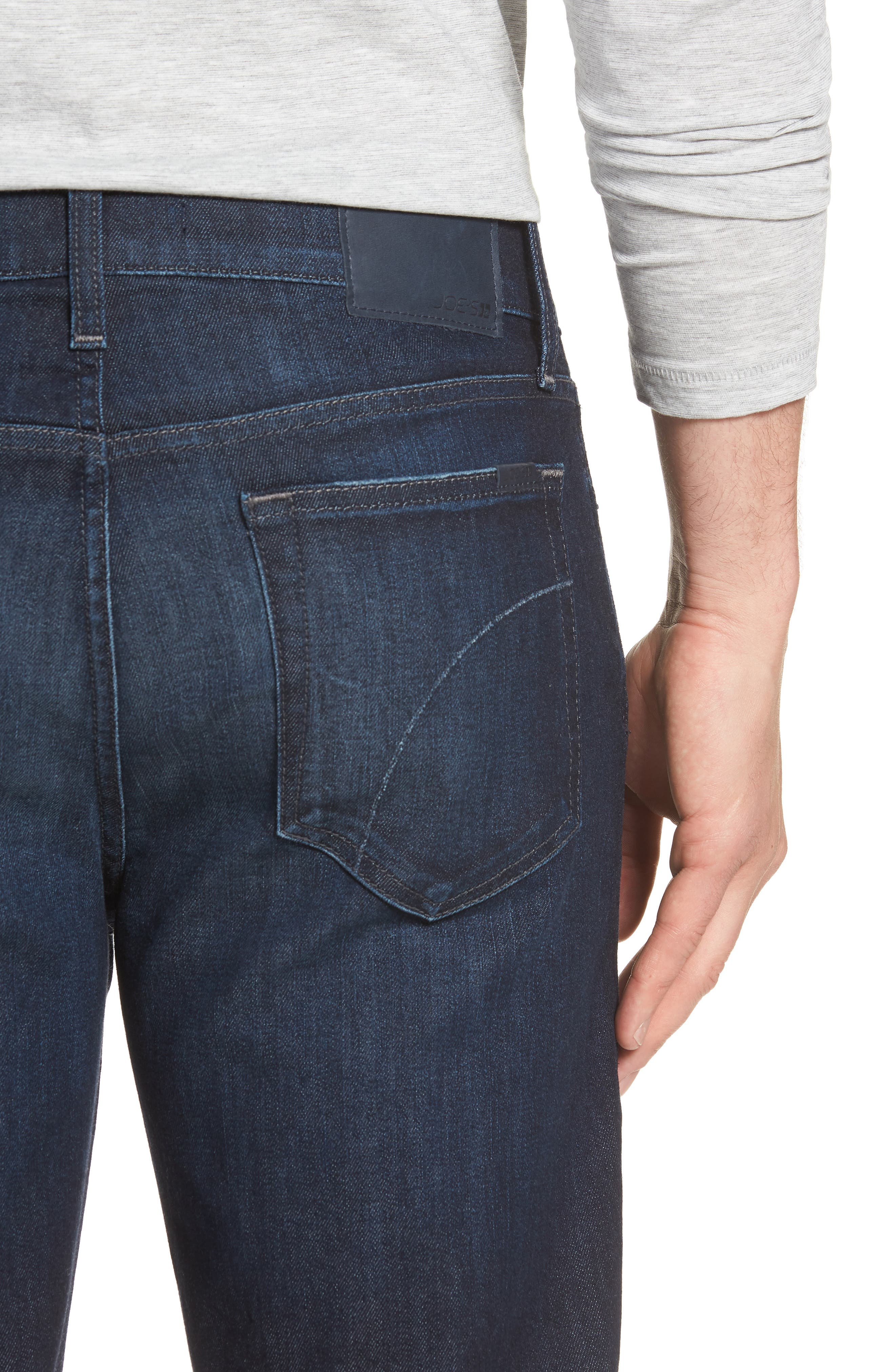 Classic Straight Fit Jeans,                             Alternate thumbnail 4, color,                             LUCAN