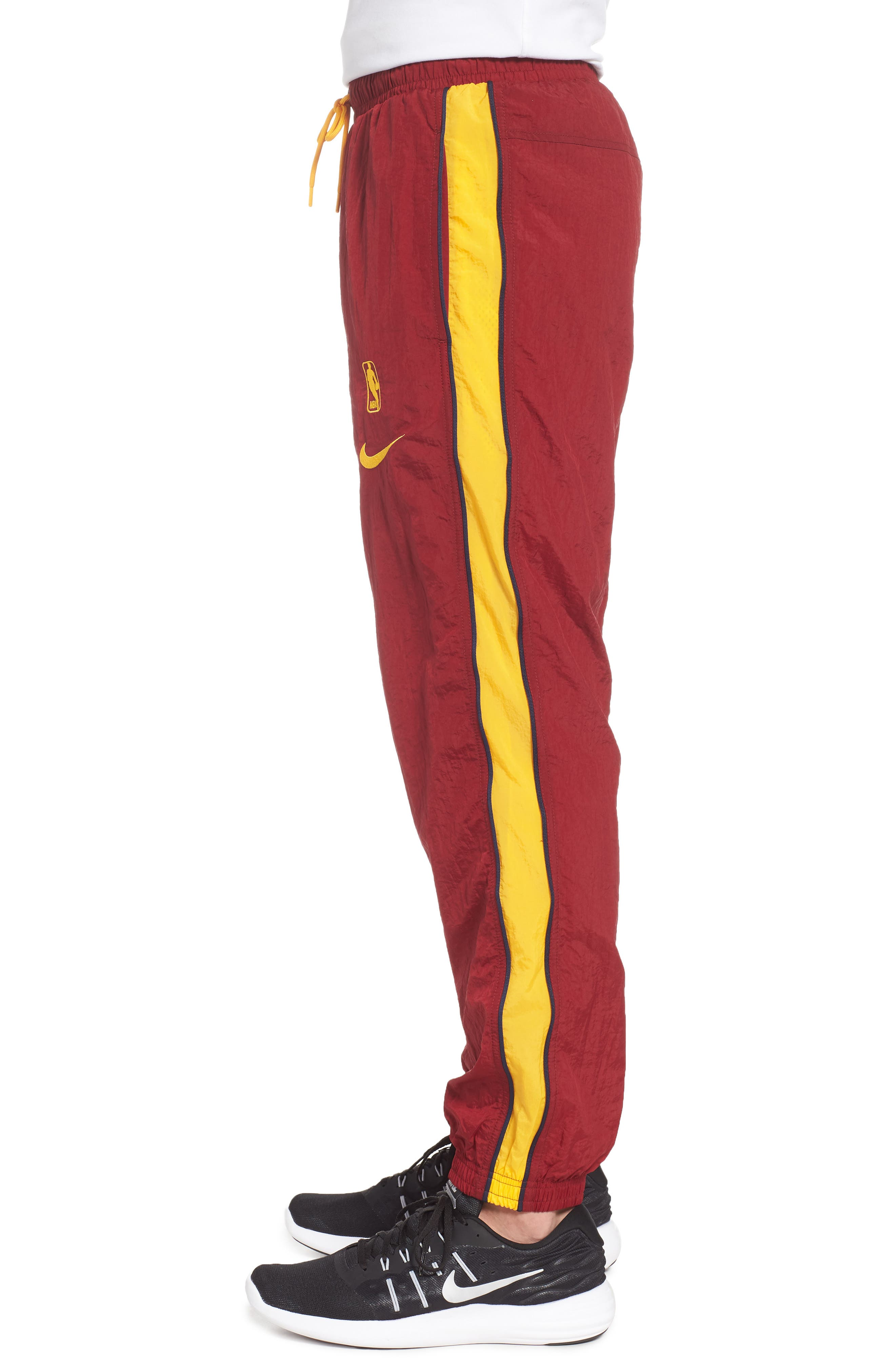 Cleveland Cavaliers Tracksuit Pants,                             Alternate thumbnail 3, color,                             TEAM RED/ UNIVERSITY GOLD