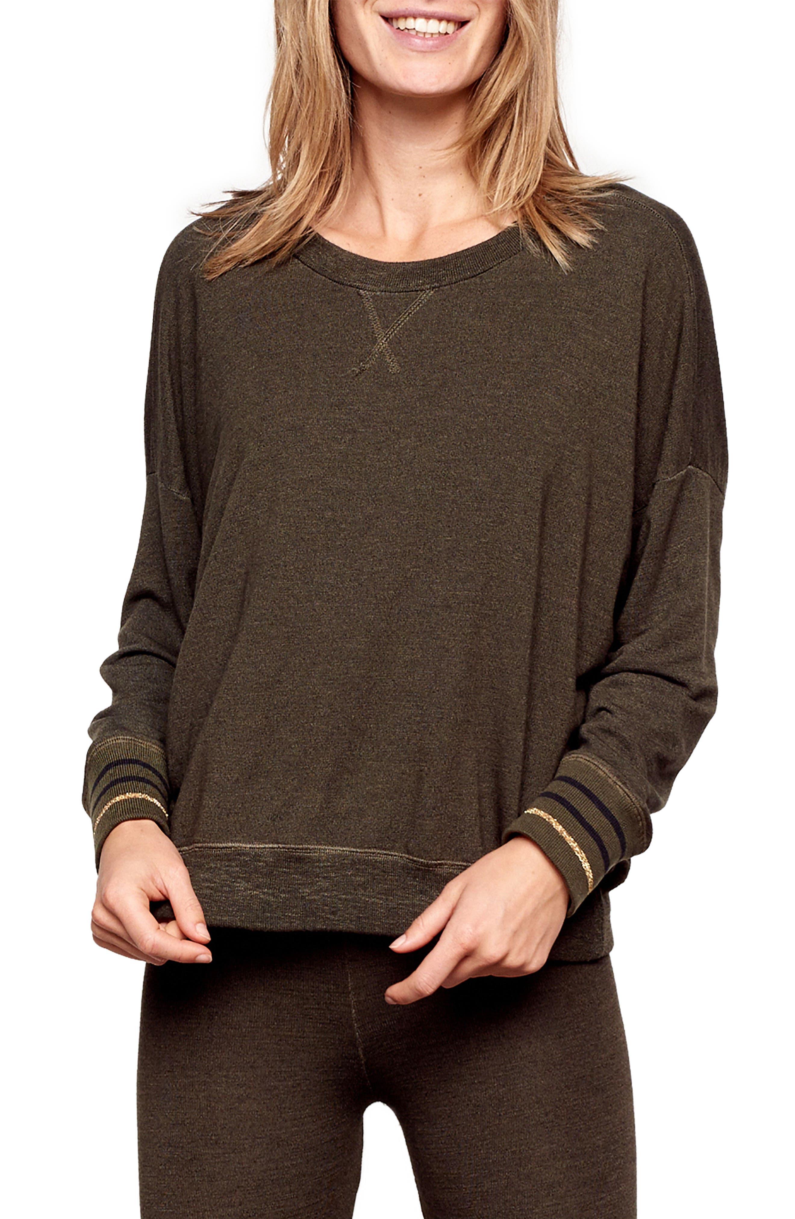 Bubble Sweatshirt,                             Main thumbnail 1, color,                             PINE