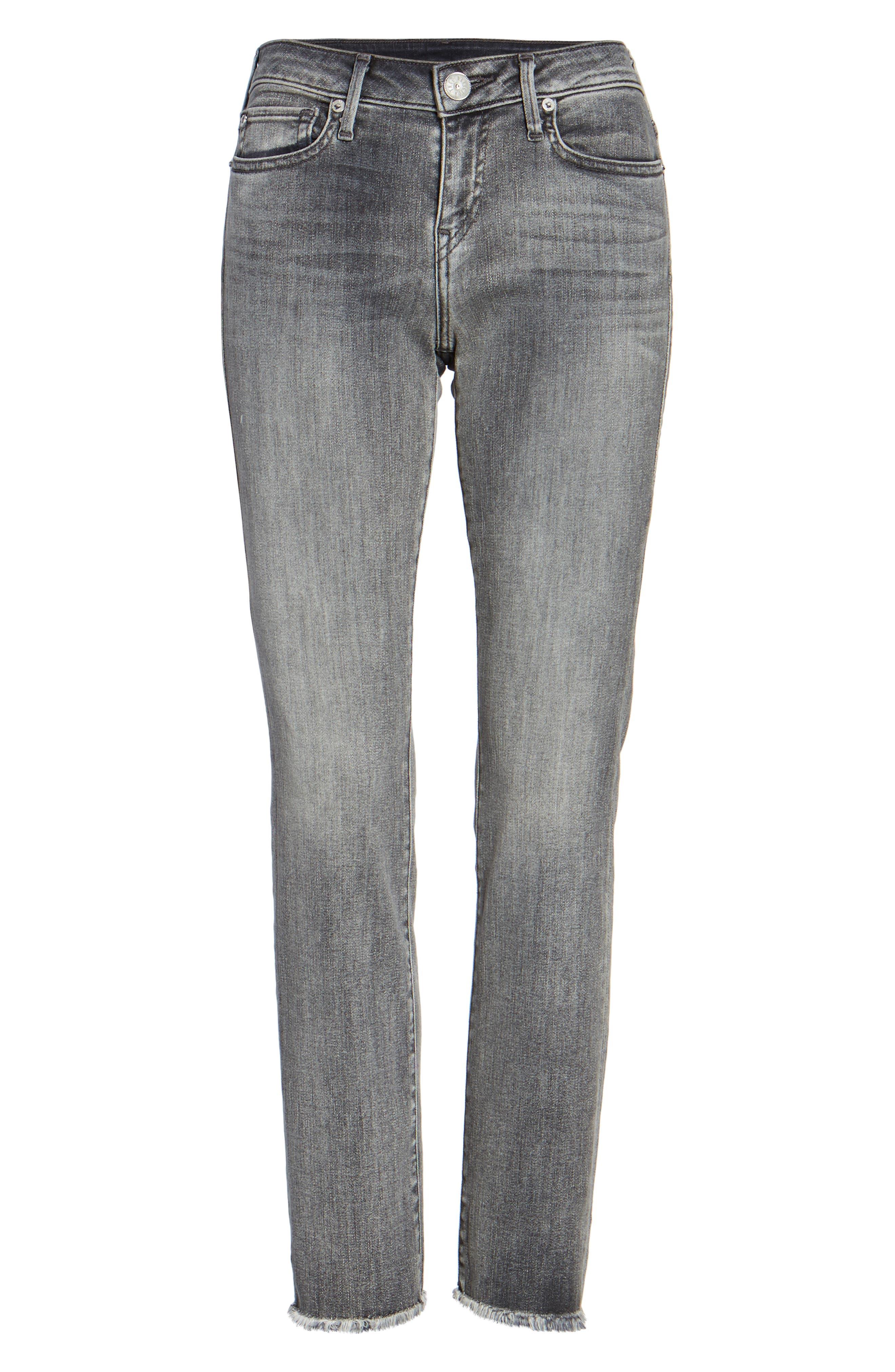Sara Crop Cigarette Jeans,                             Alternate thumbnail 6, color,                             021