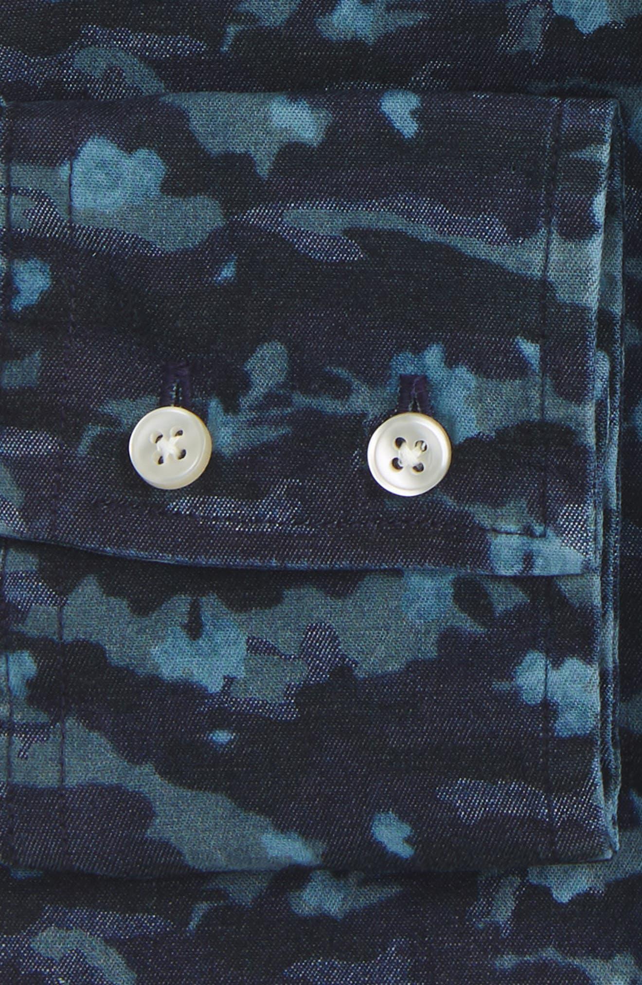 Trim Fit Camo Print Dress Shirt,                             Alternate thumbnail 2, color,                             429