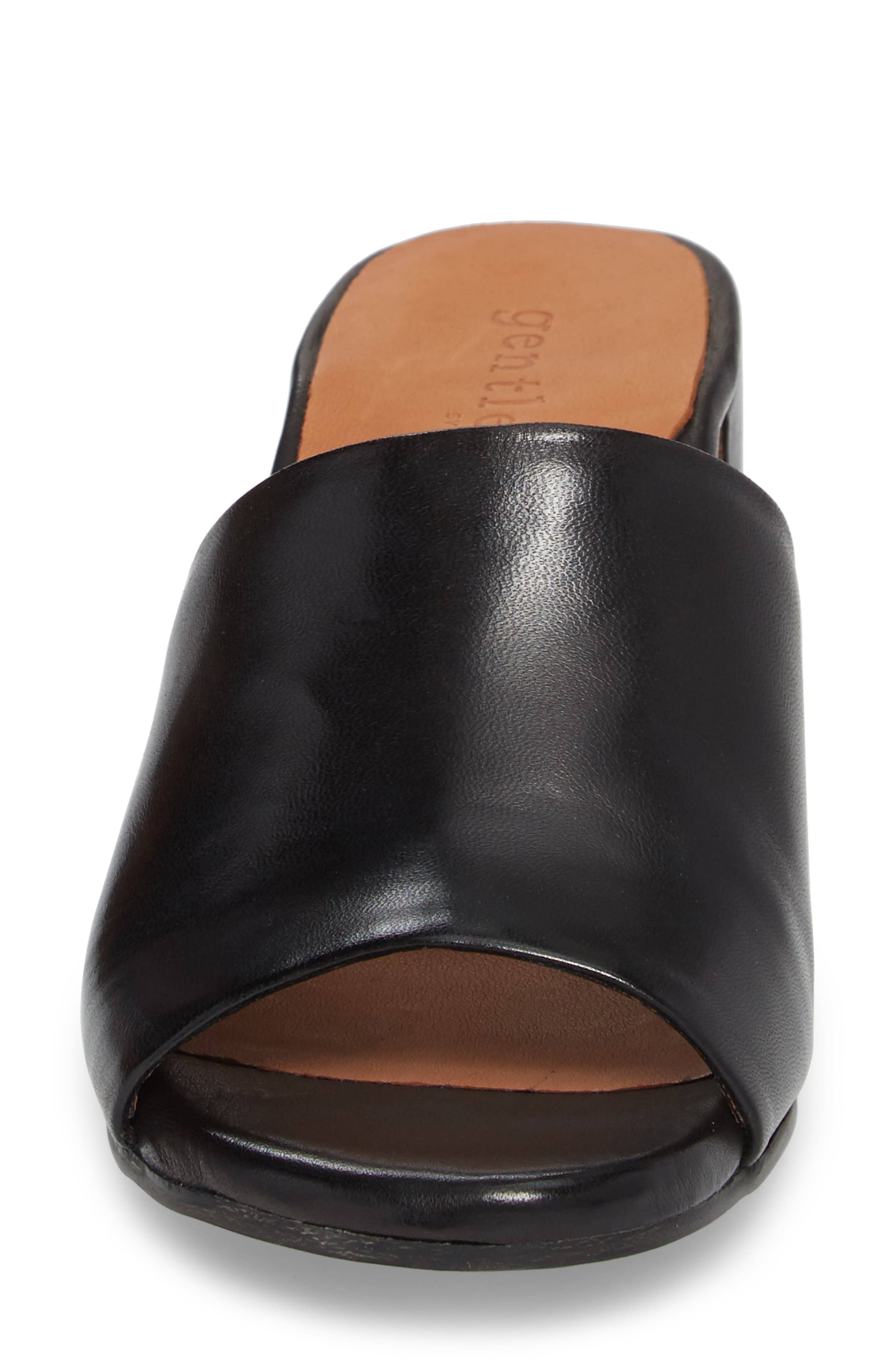 by Kenneth Cole Chantel Sandal,                             Alternate thumbnail 4, color,                             BLACK LEATHER