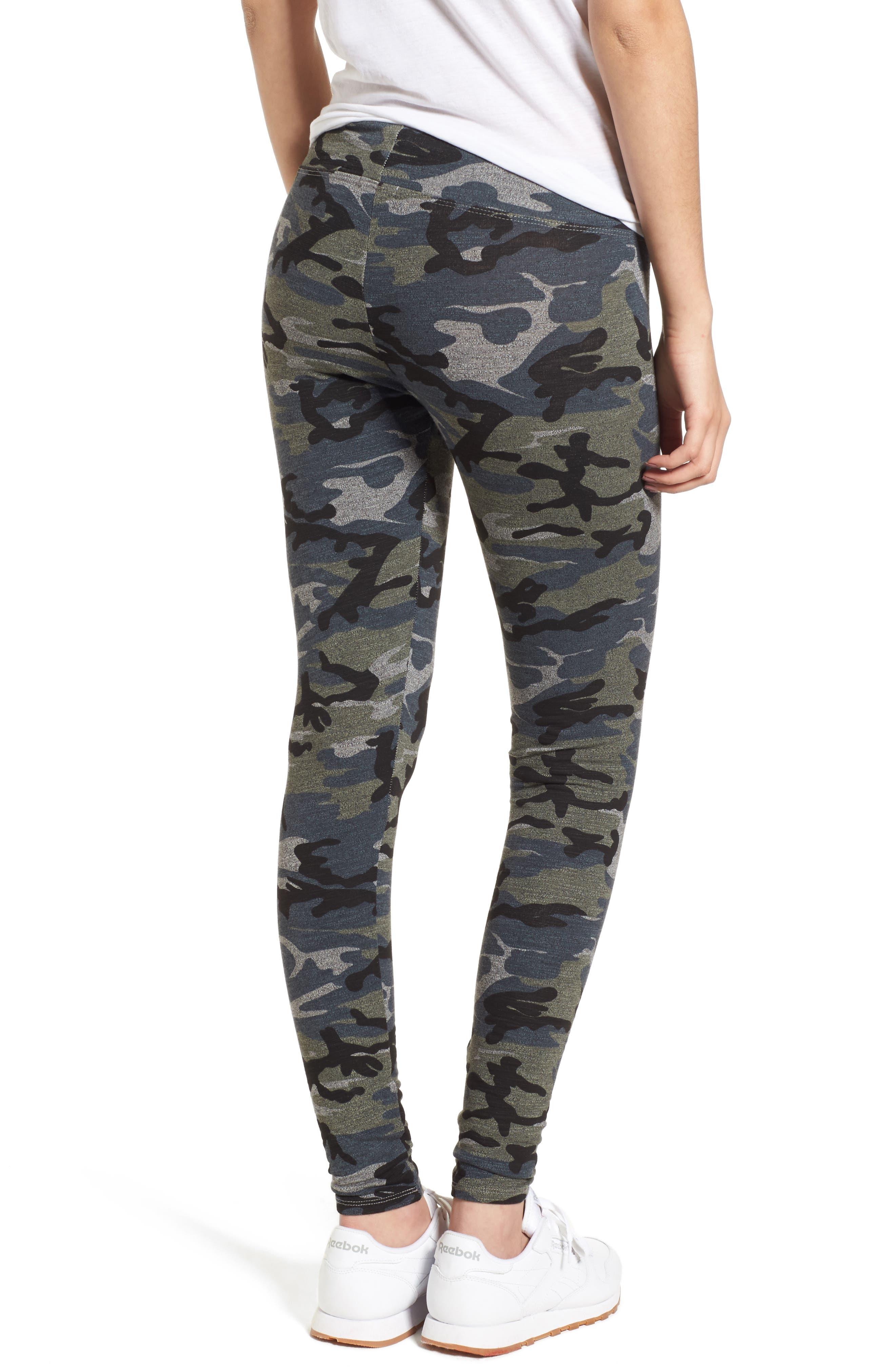 Camo Yoga Pants,                             Alternate thumbnail 4, color,