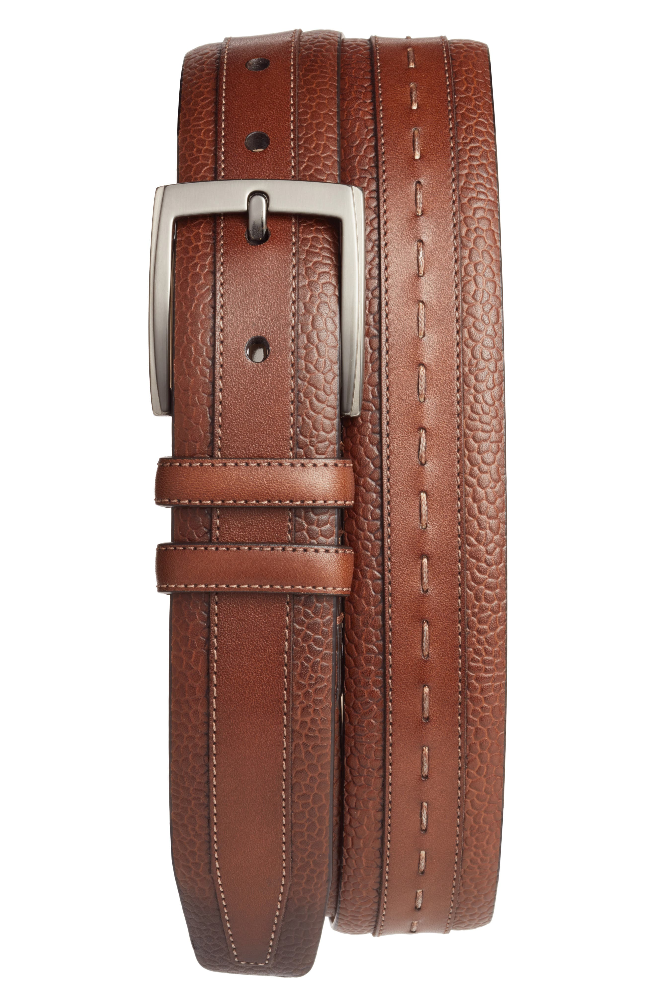 Leather Belt,                             Main thumbnail 2, color,