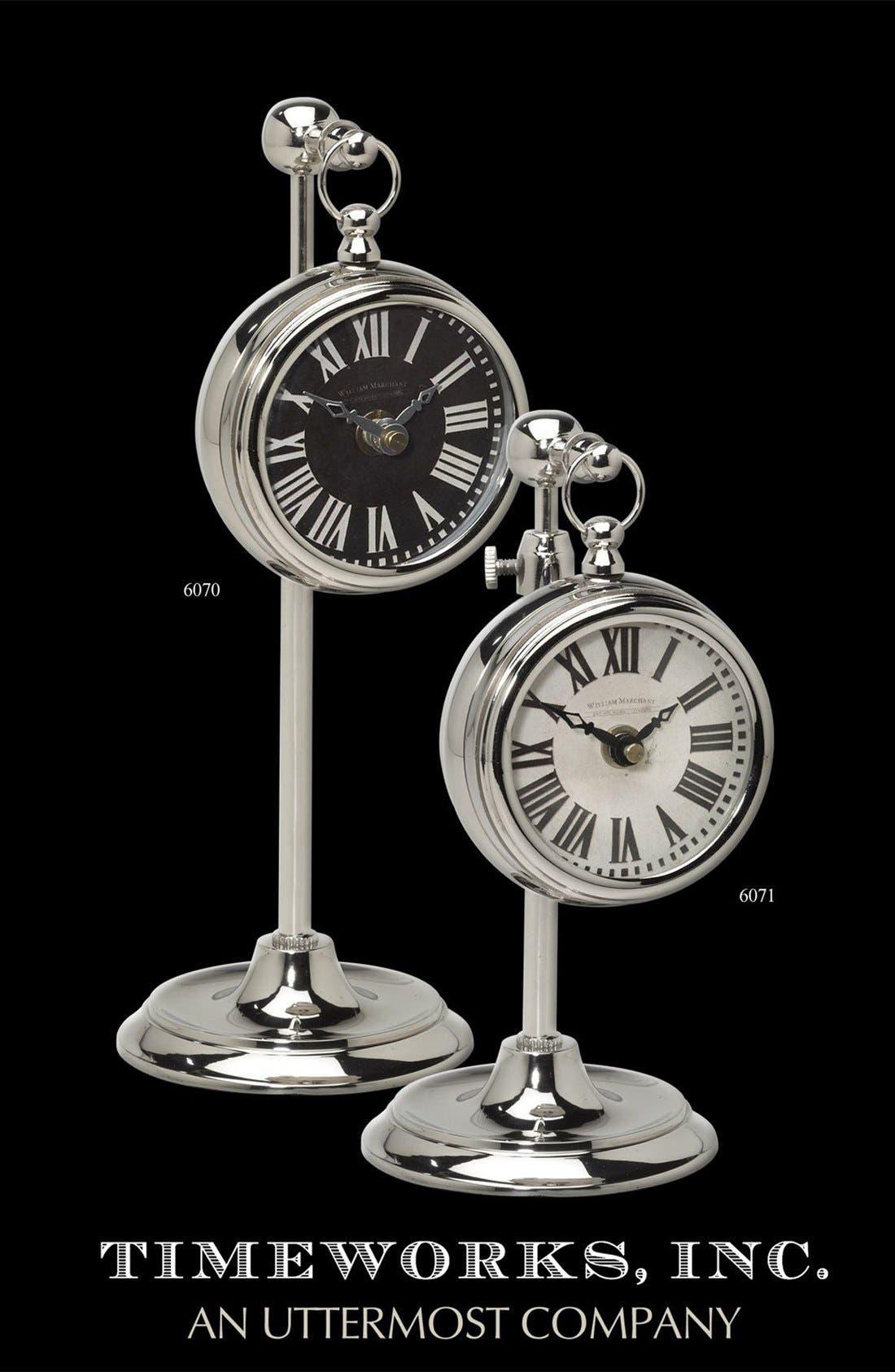 UTTERMOST,                             'Pocket Watch' Nickel Clock,                             Alternate thumbnail 2, color,                             040