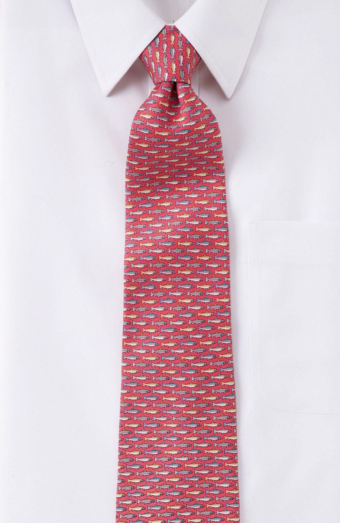 Print Silk Tie,                             Alternate thumbnail 7, color,