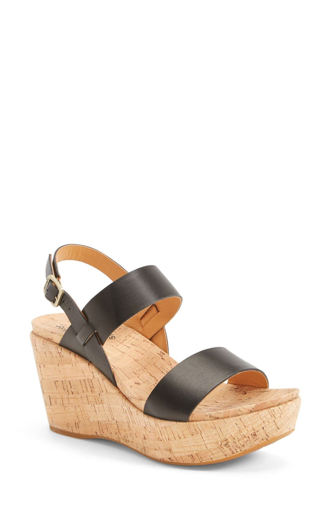 'Austin' Slingback Wedge Sandal,                         Main,                         color, 001